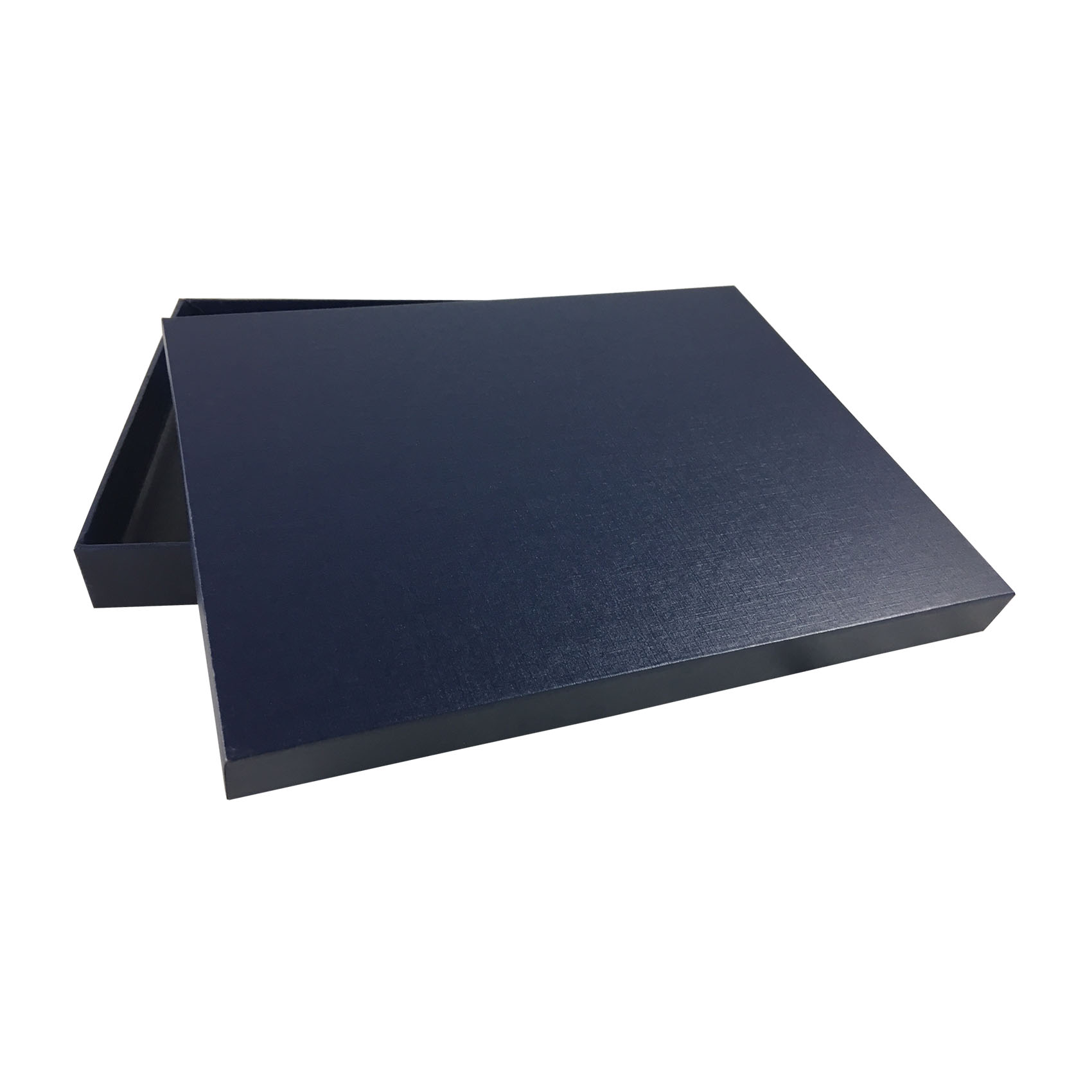 luxury cardboard box in navy blue