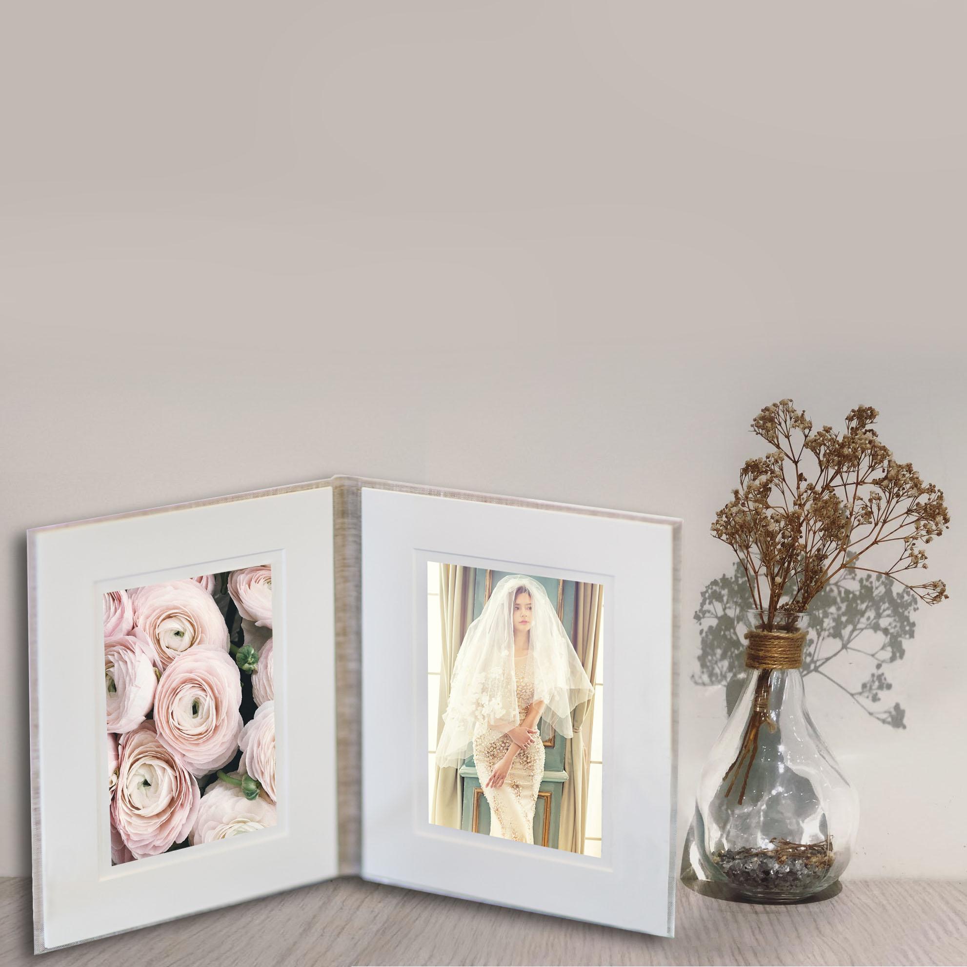 Linen photo folio