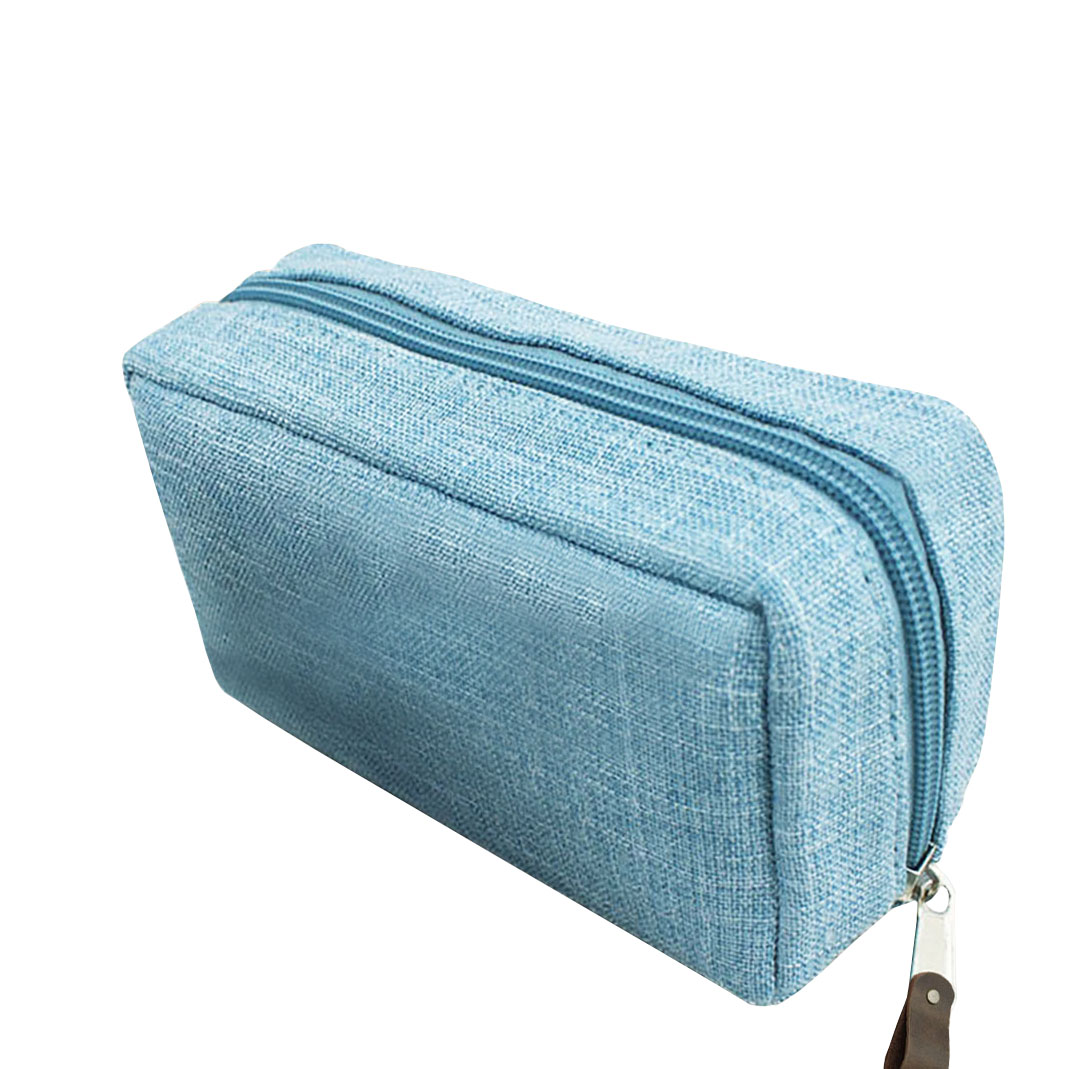 Plain hemp cosmetic bag