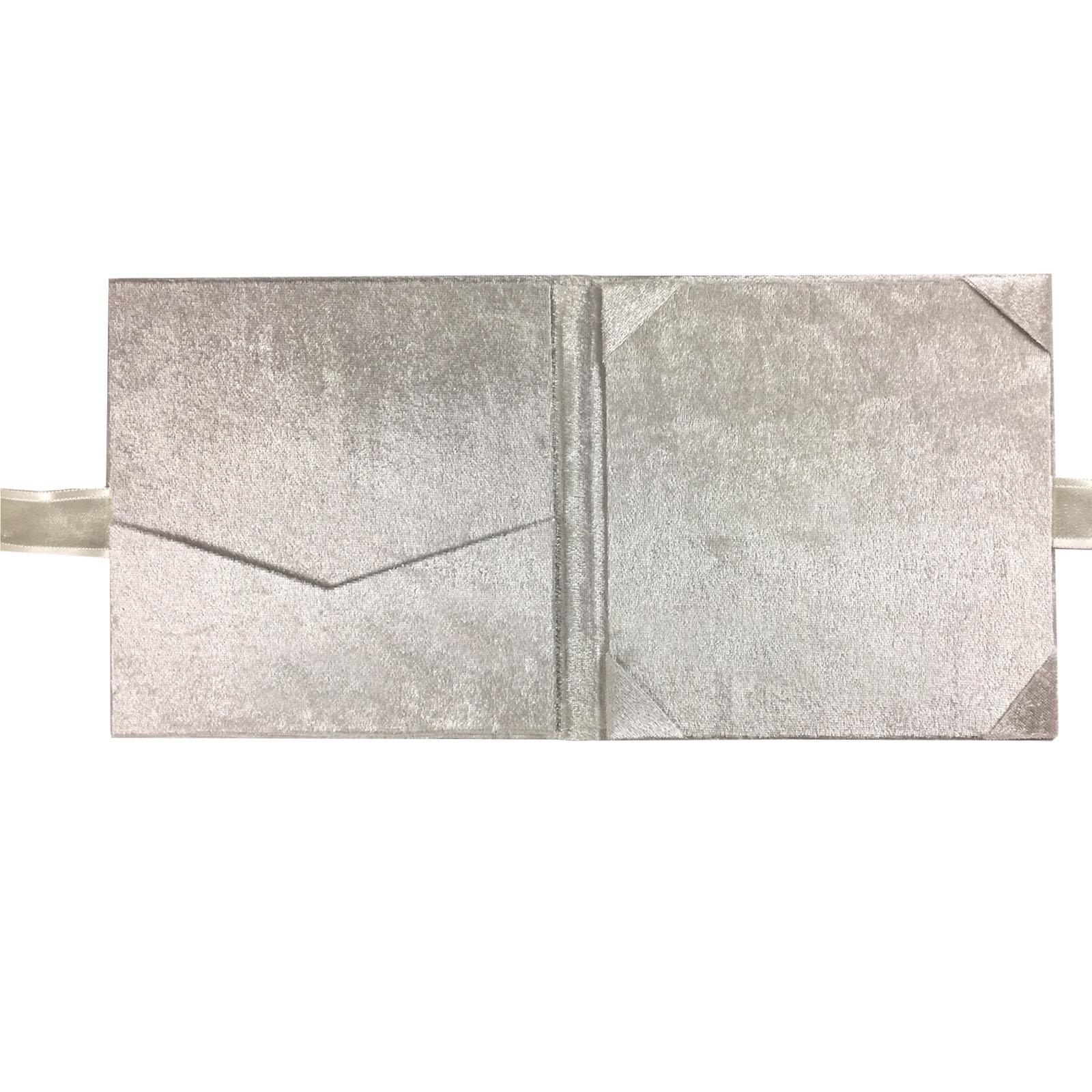 velvet folio in off white