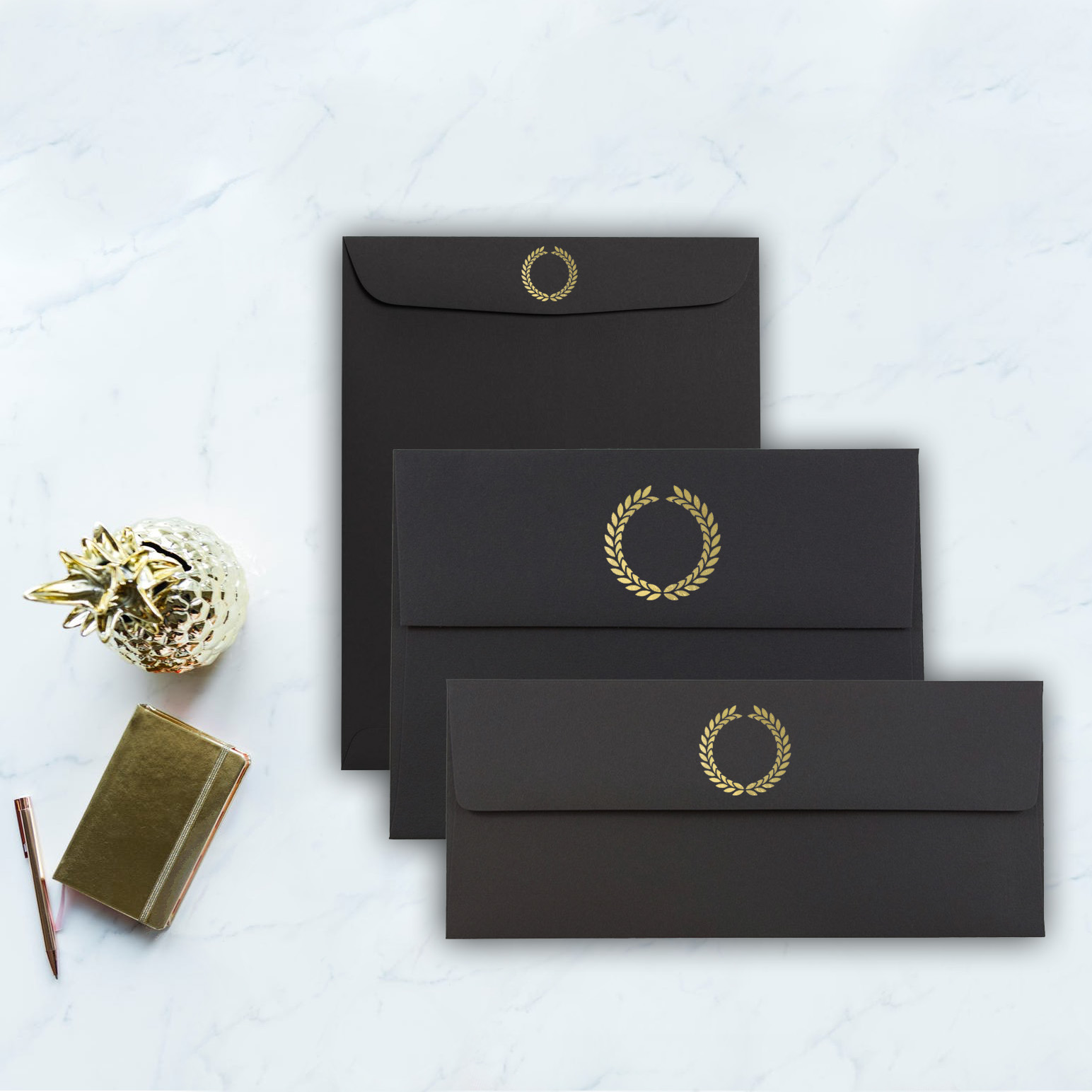 Black Envelopes For Invitations