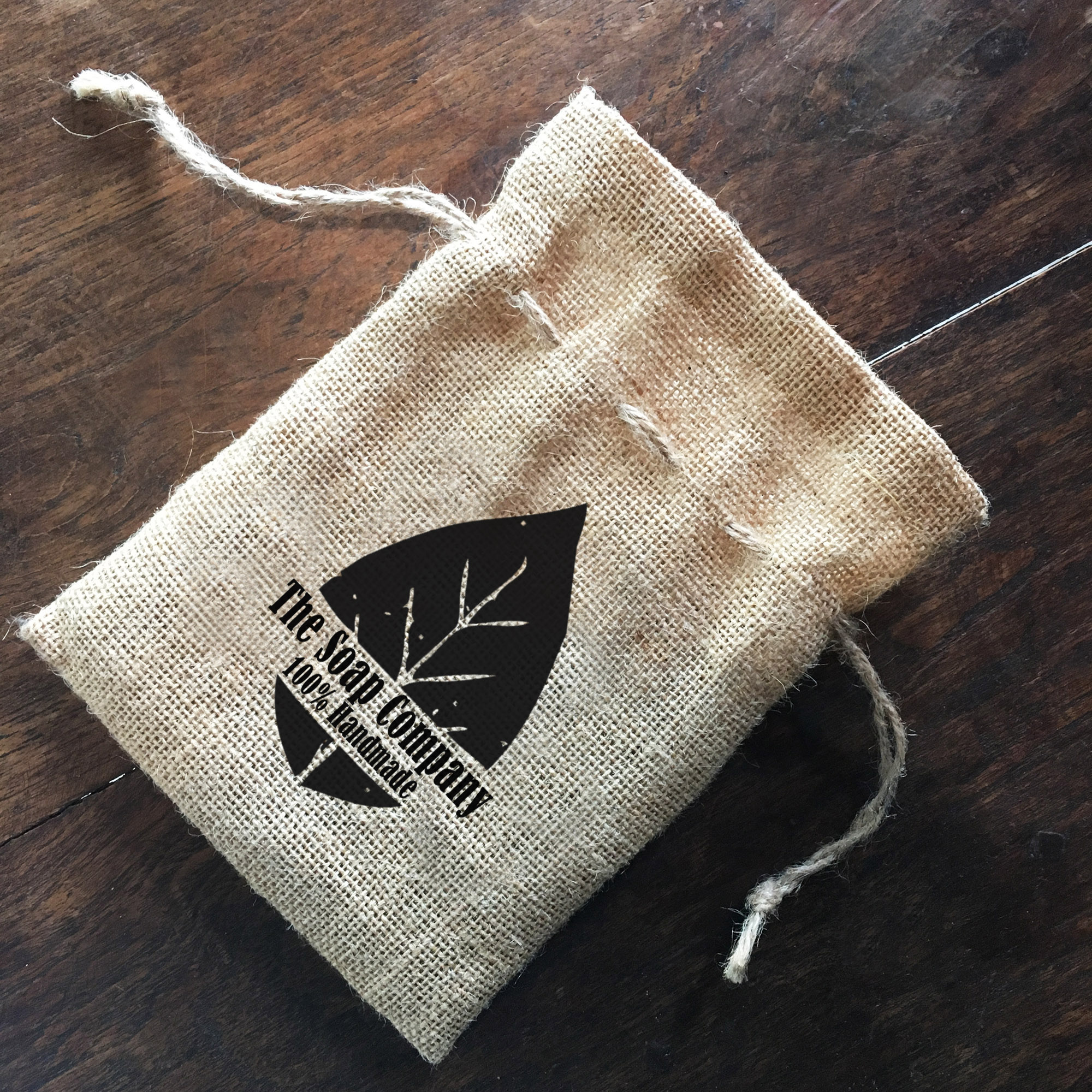 jute eco bag with logo print