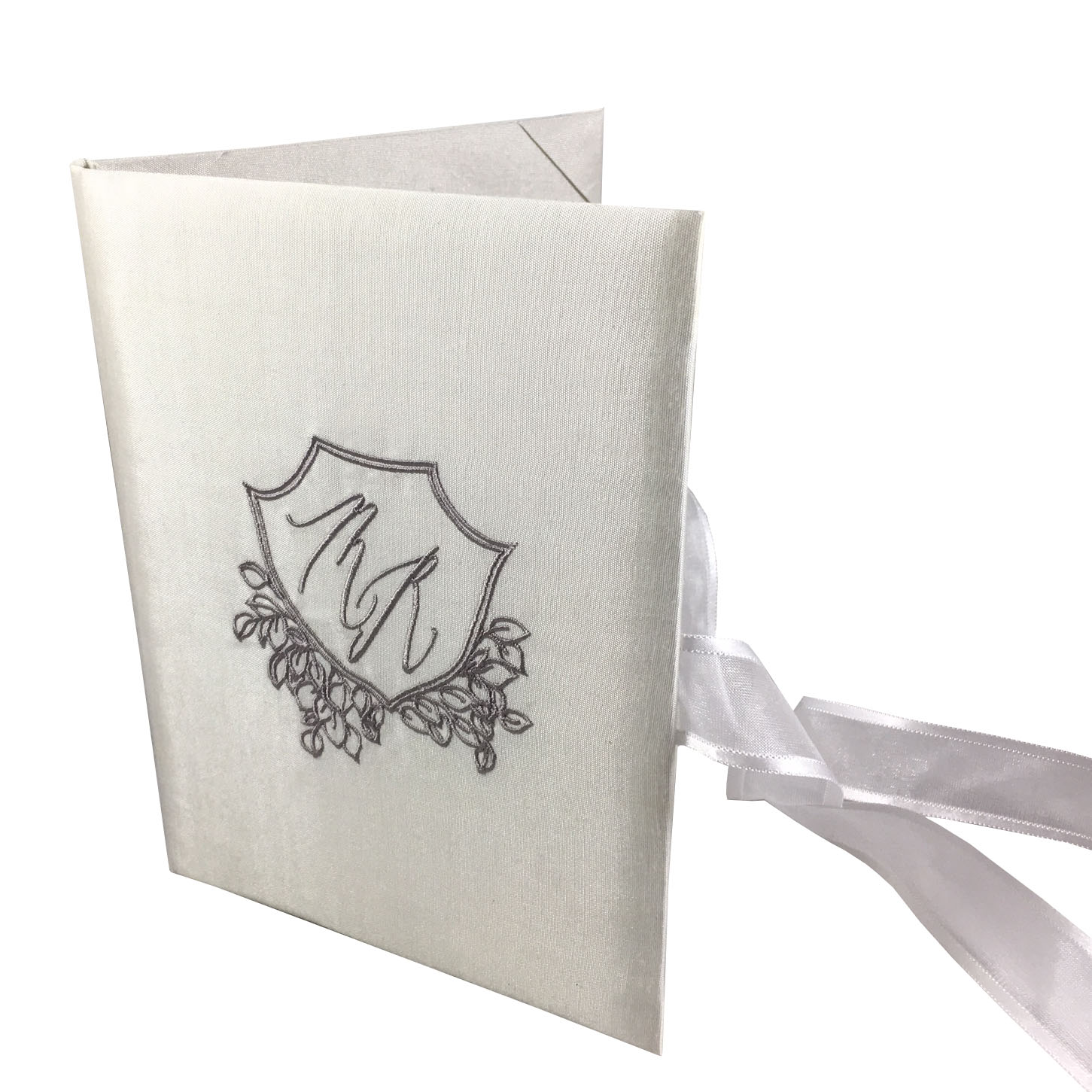 monogram silk invitation design for luxury wedding invitations