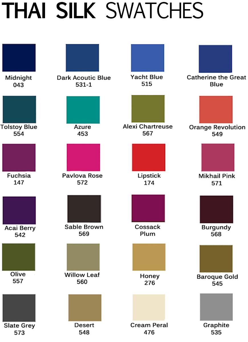 Thai silk colors