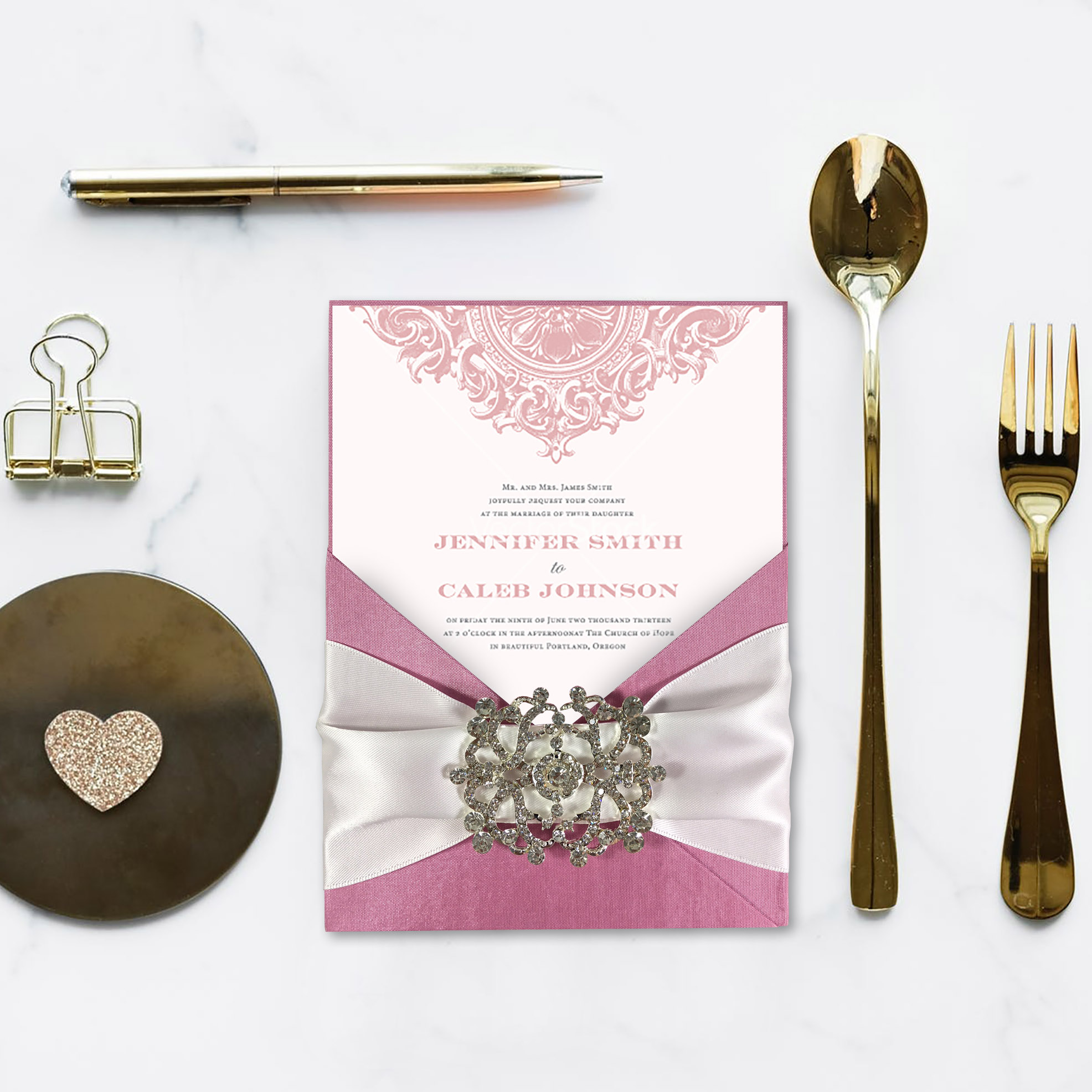 Luxury wedding invitation creation by Dennis Wisser