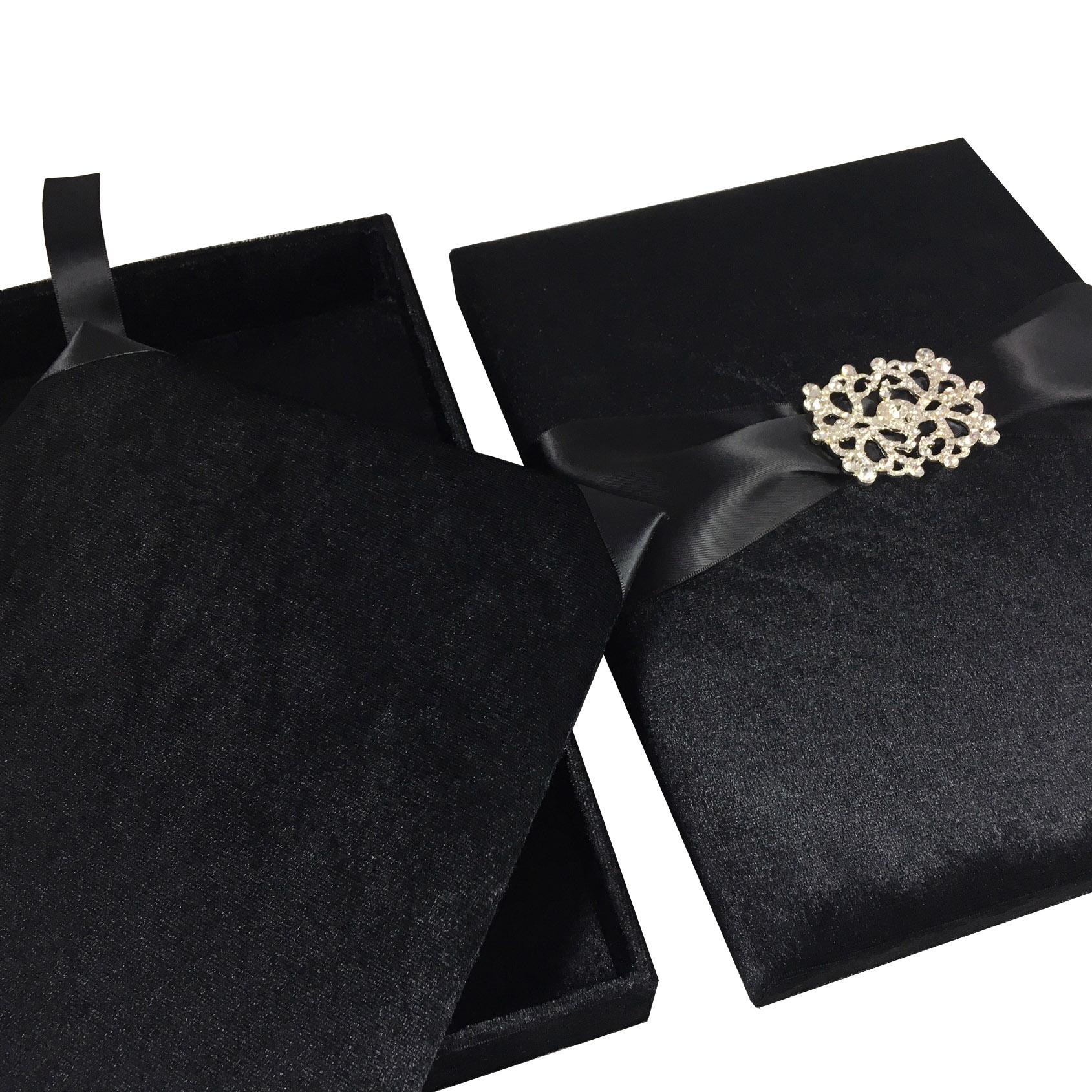 black velvet wedding box