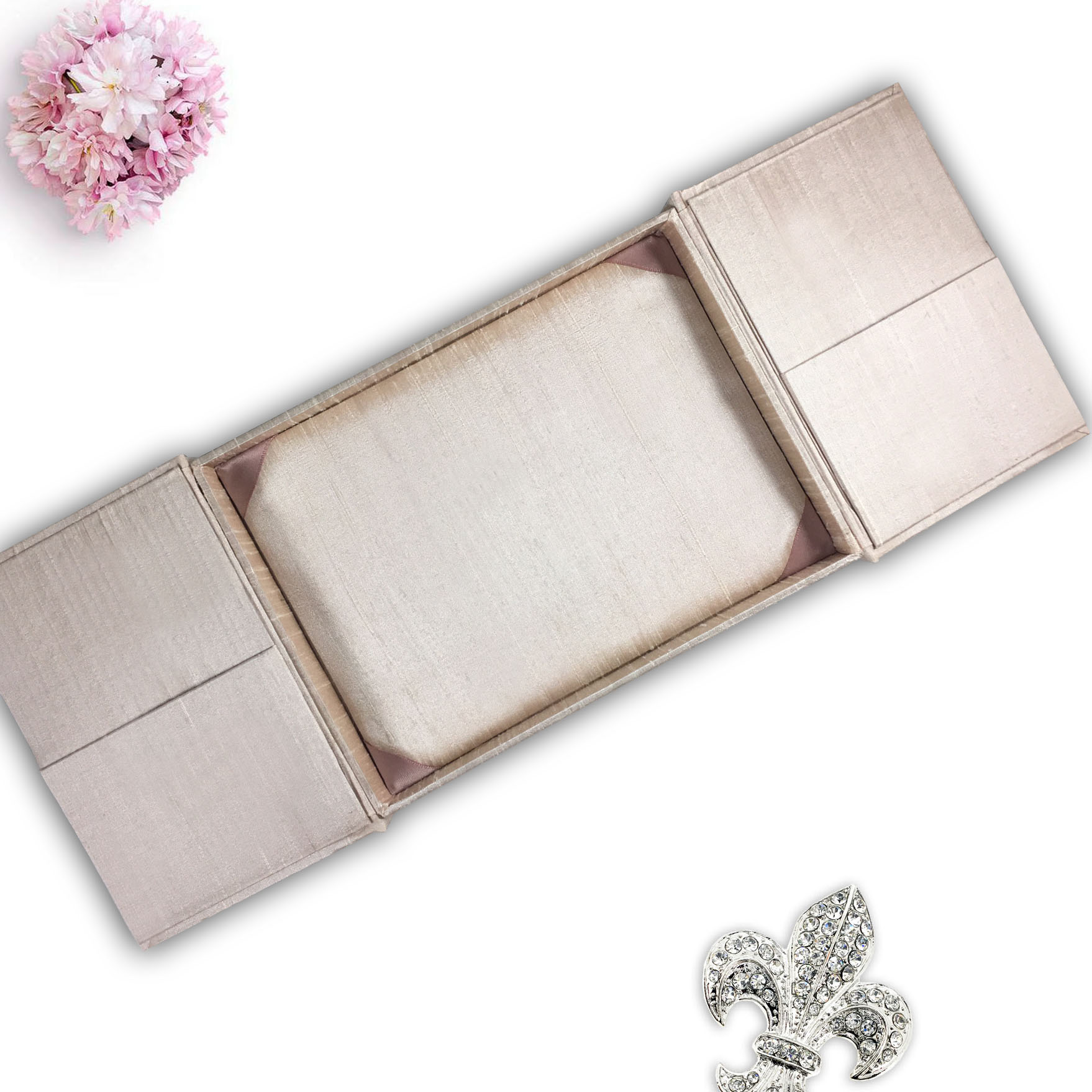 blush pink invitation box
