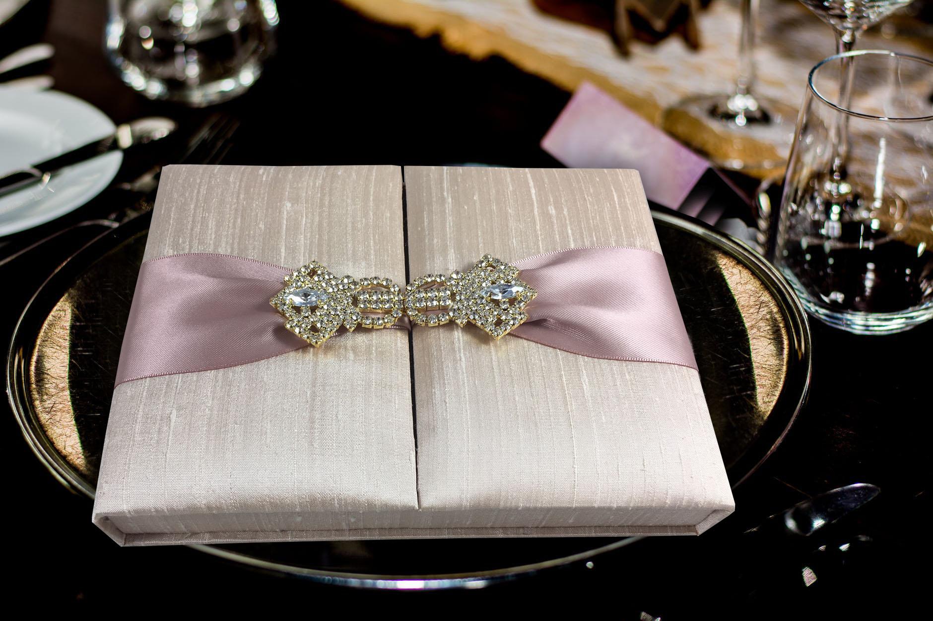 The original Thai silk box for wedding invitations