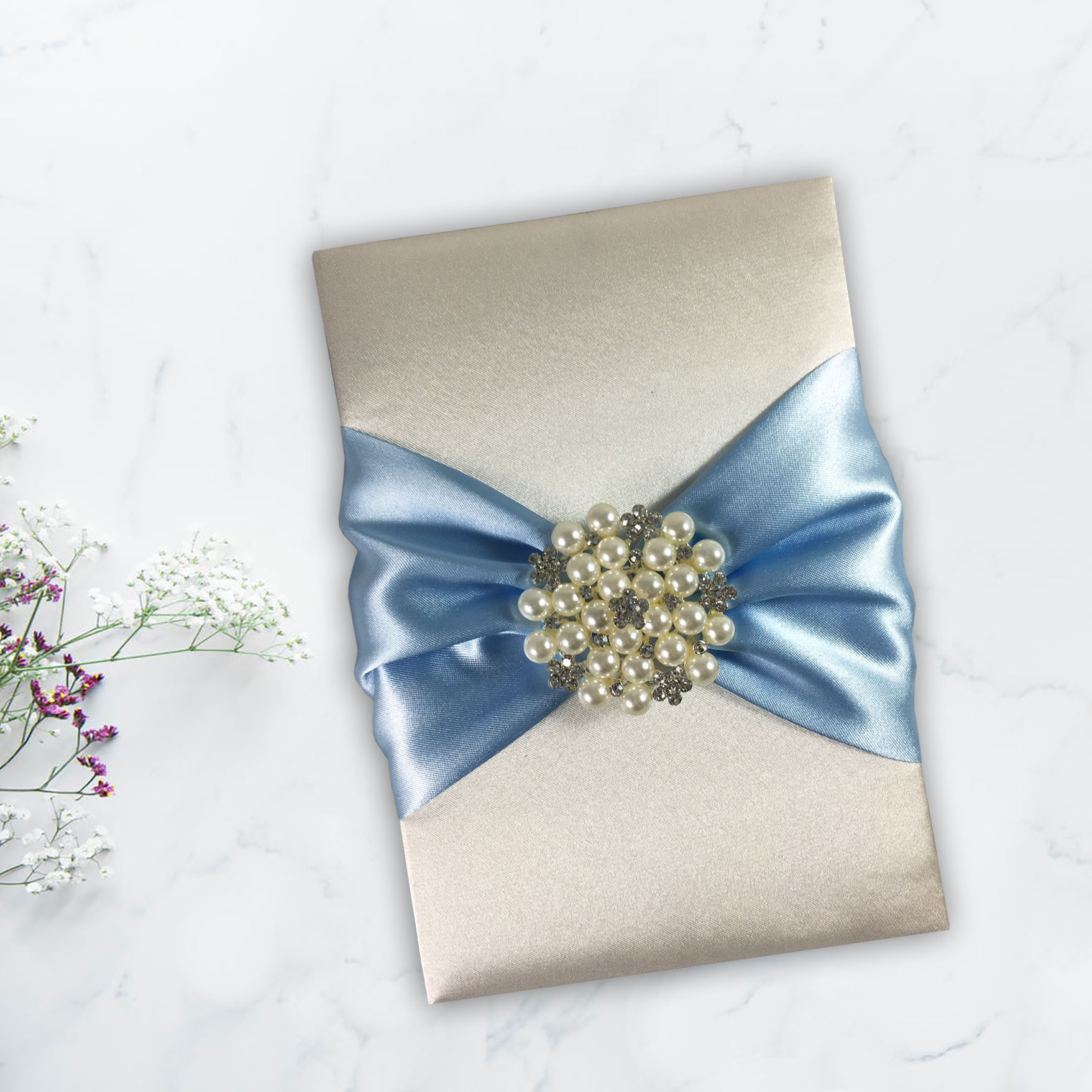 extravagant pearl wedding invitations