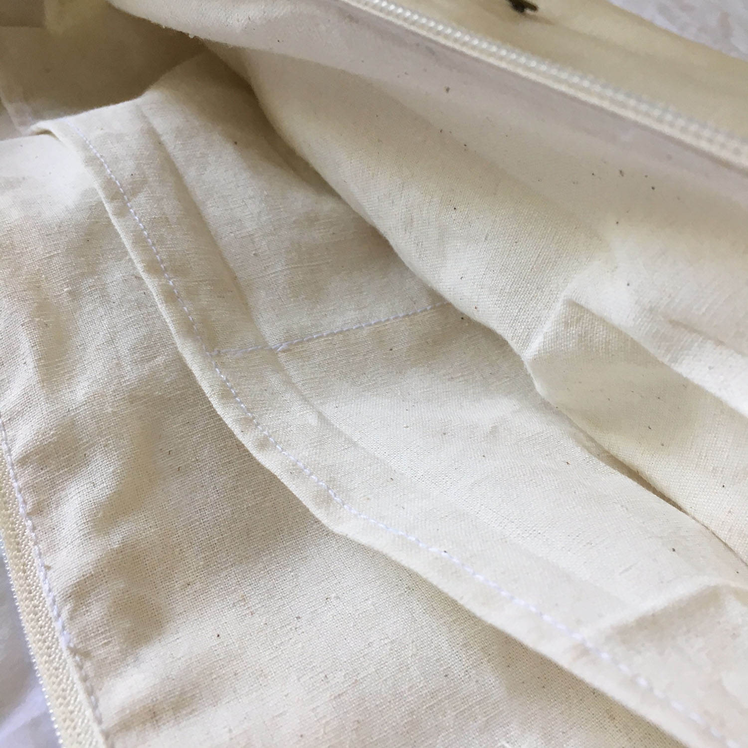 Inner pocket of canvas bags