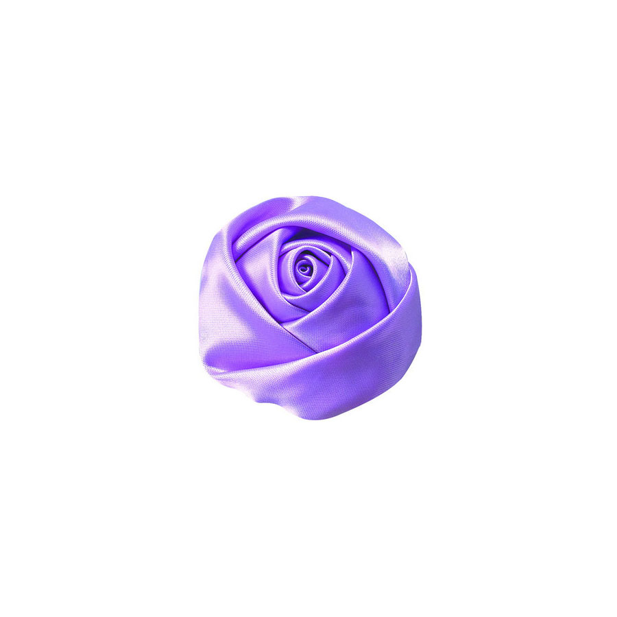 lavender fabric flower