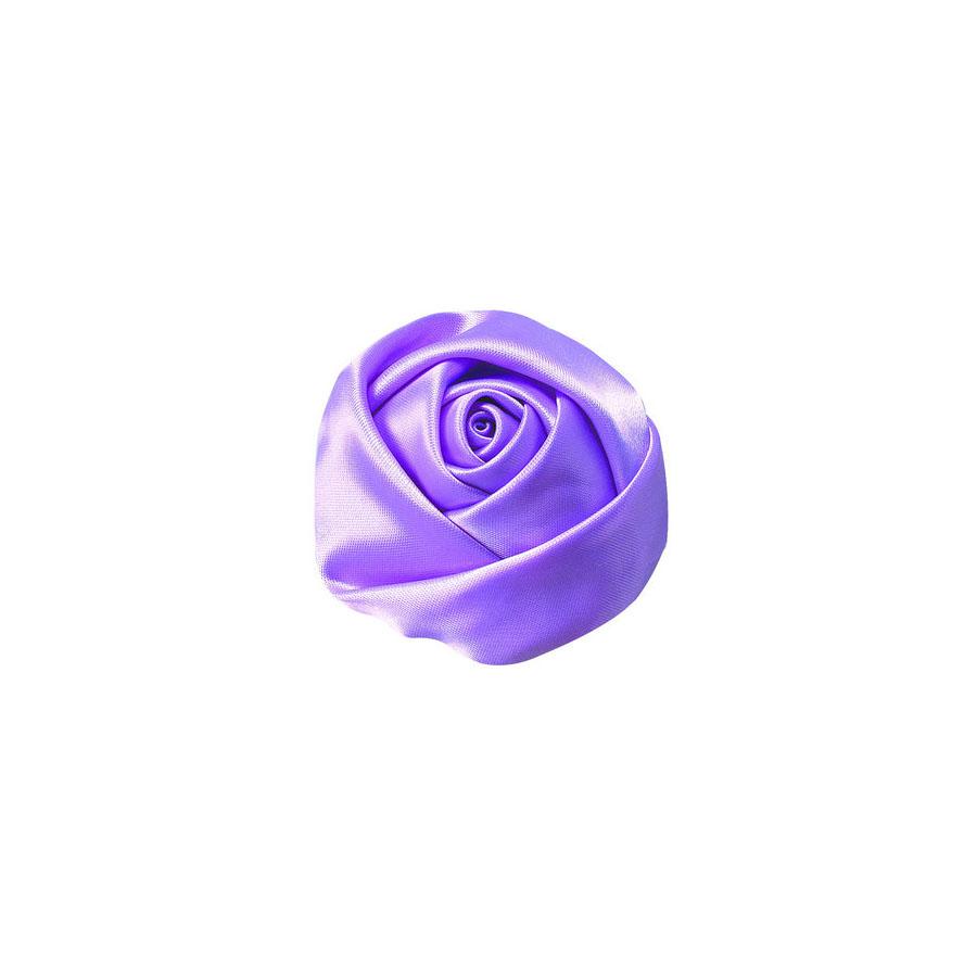 lavender fabric flower