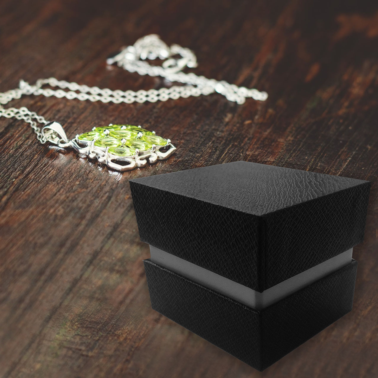Black Leatherette Jewelry Box
