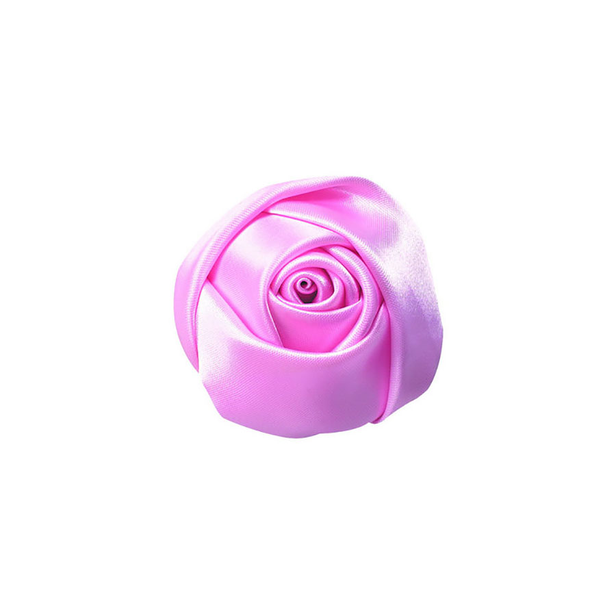 Pink fabric flower for wholesale from Thailand