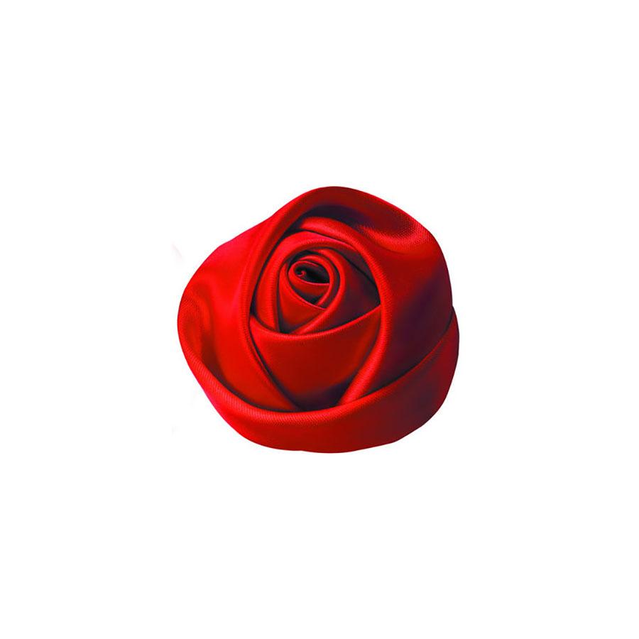 red satin fabric rose flower