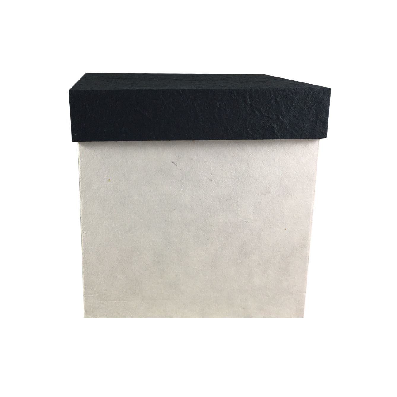 Large mulberry paper box with black lid