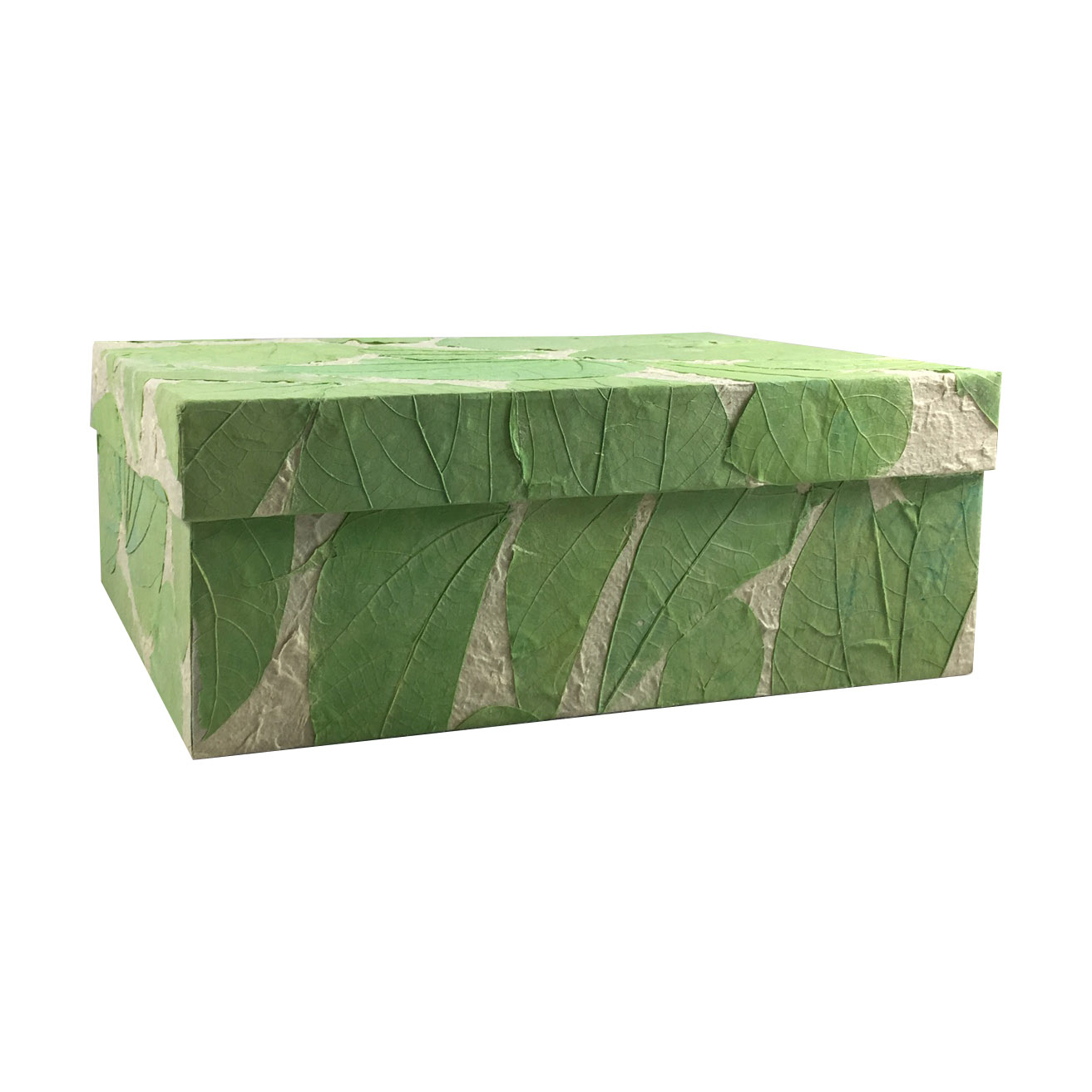 Green saa paper box with leaves from Thailand