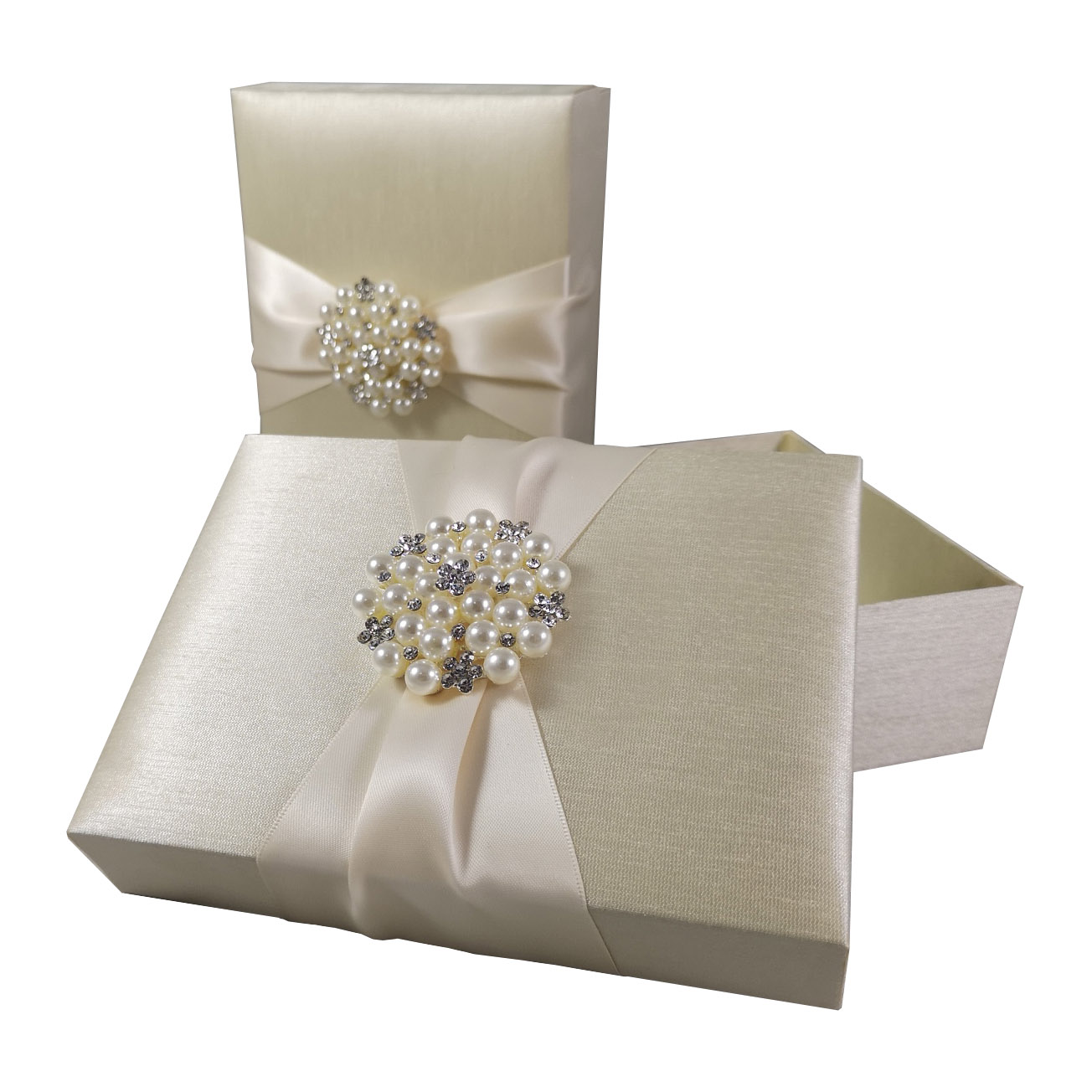 ivory pearl wedding box