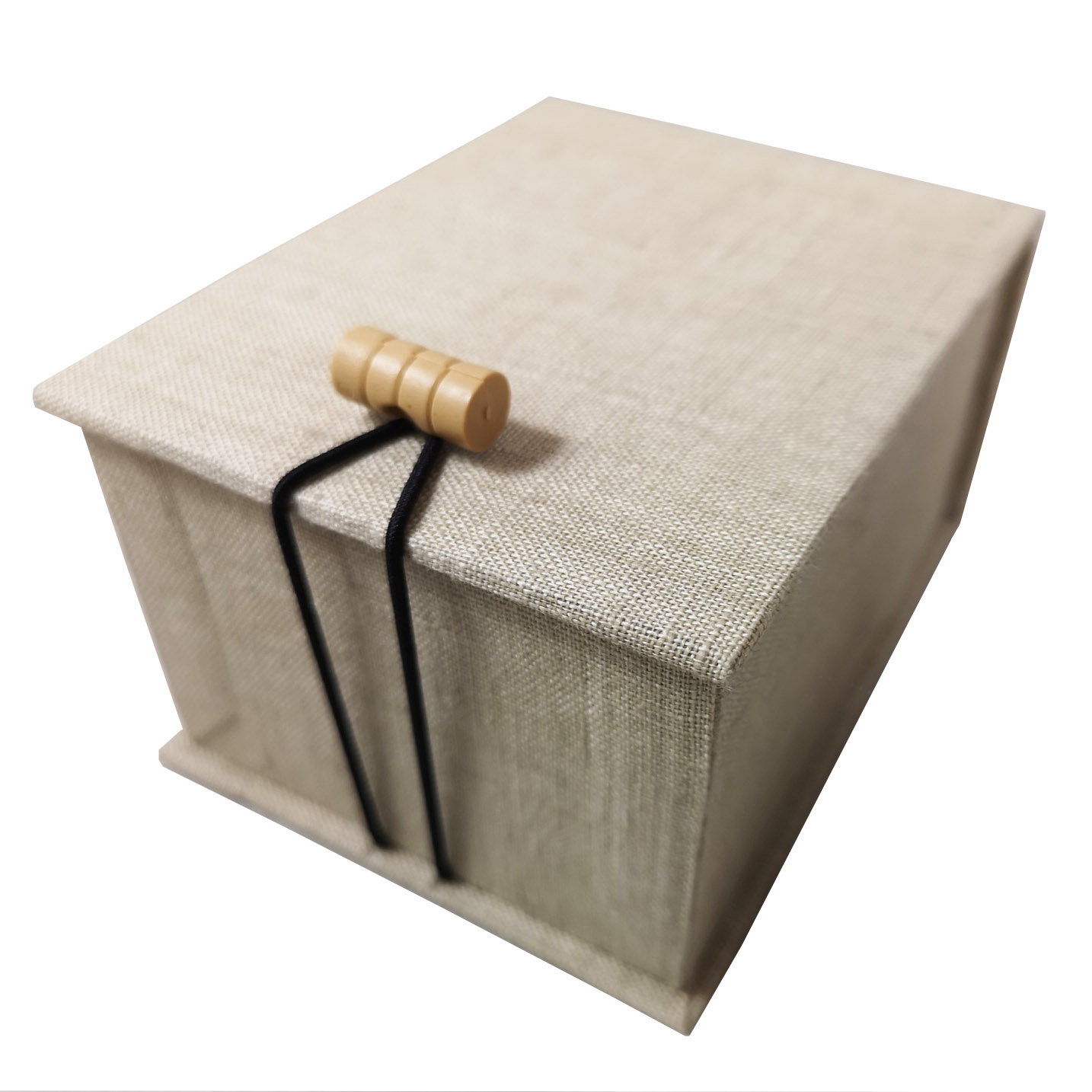 Small linen box for USB sticks, jewelry or gift