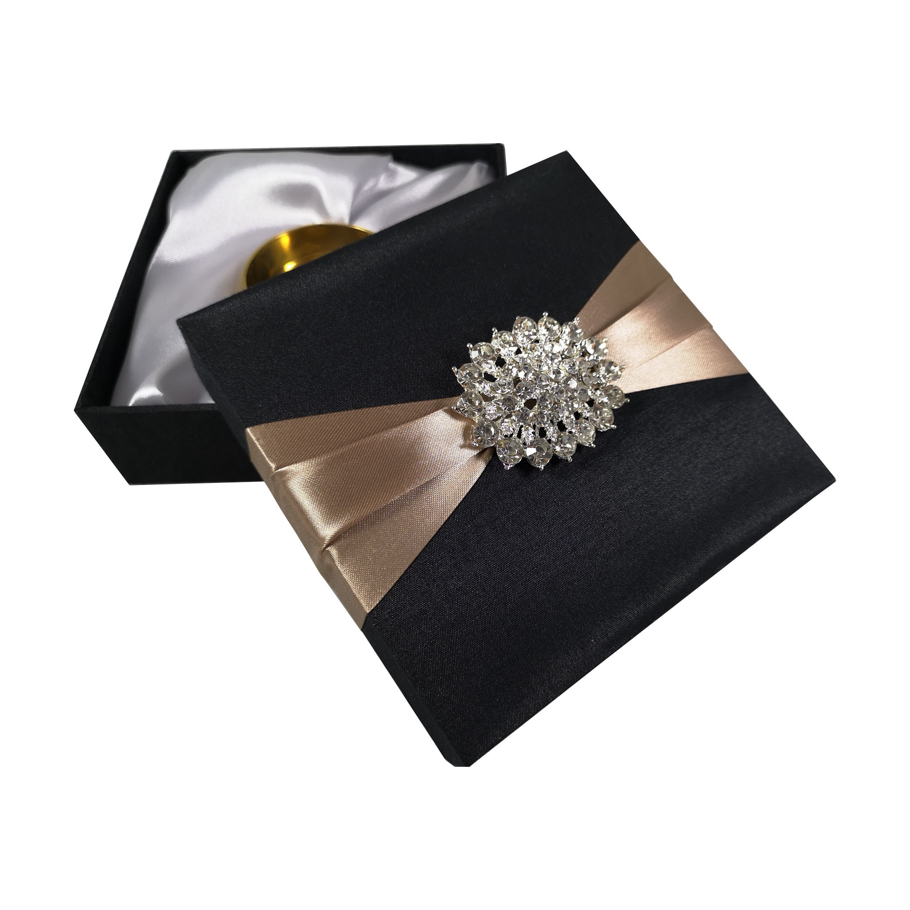 Elegant black silk packaging box