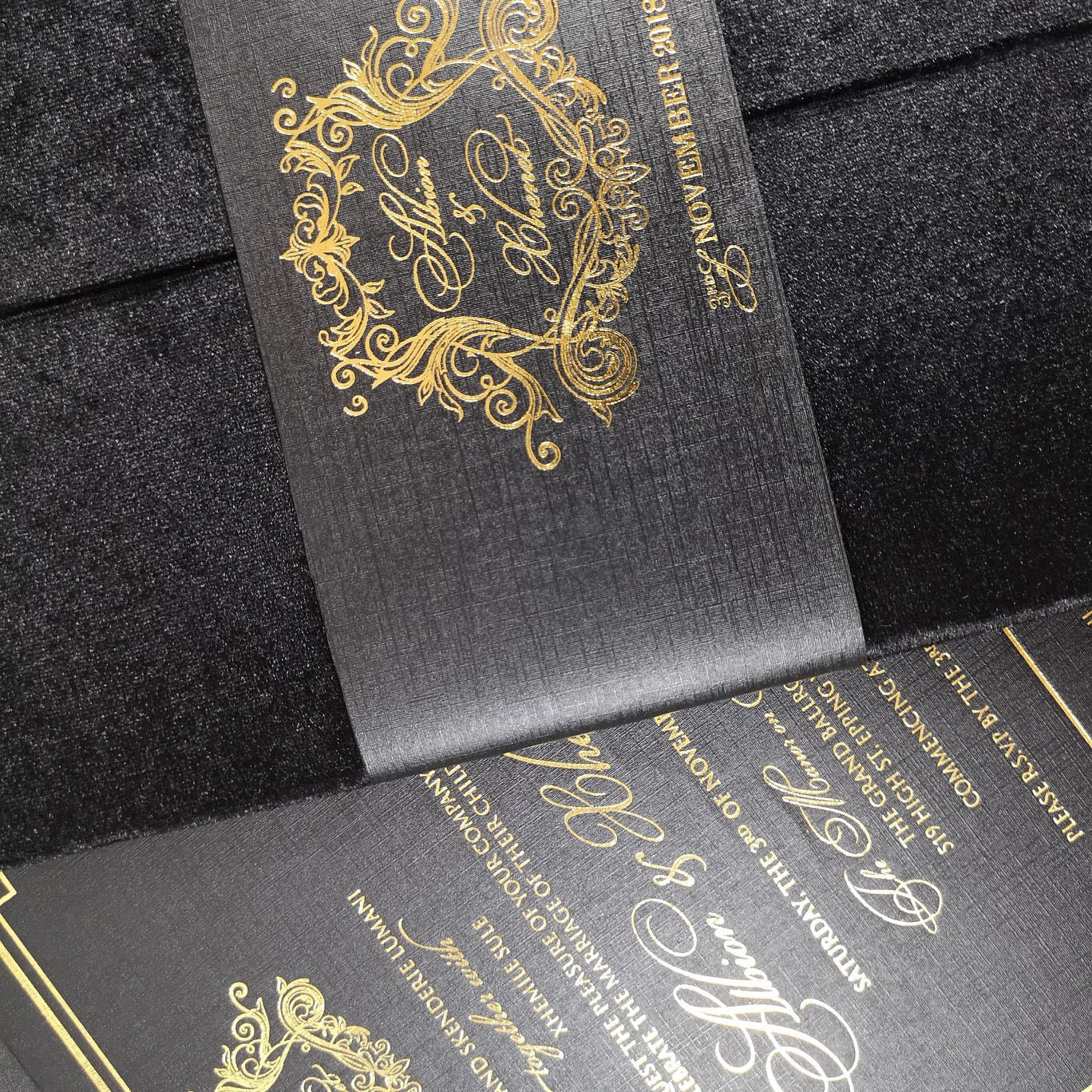 High end wedding invitation