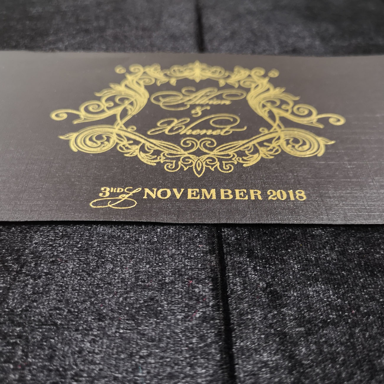 Luxury velvet invitation