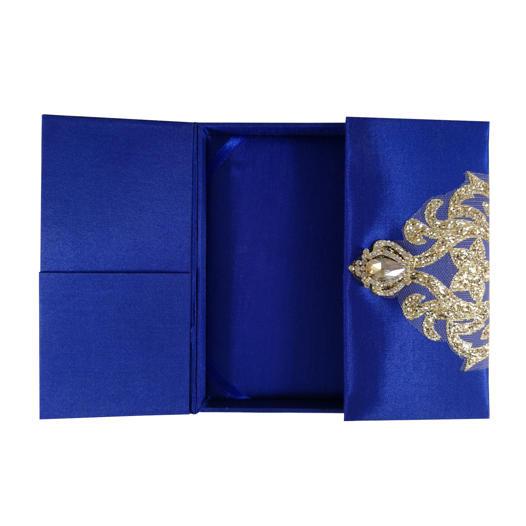 Royal blue silk box