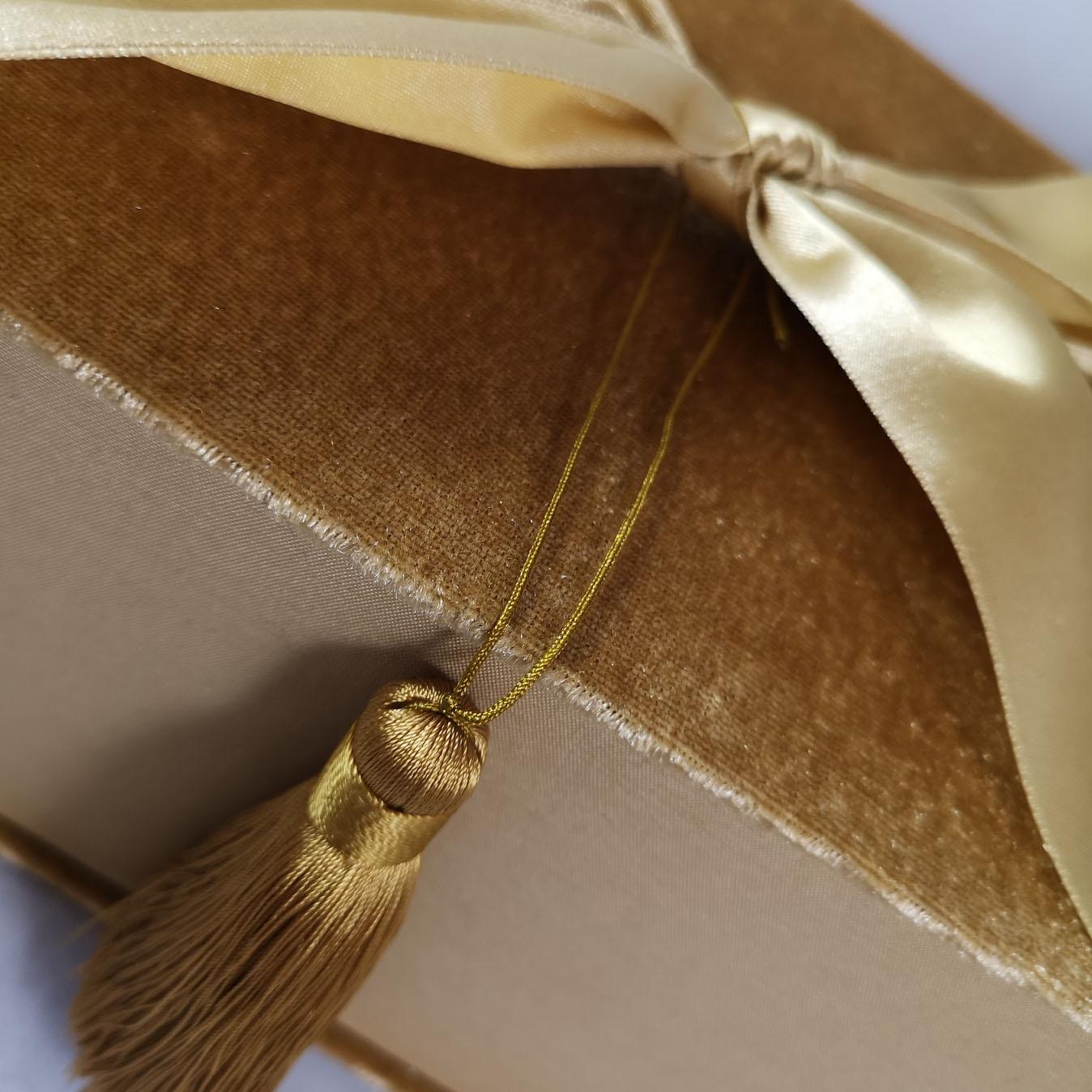 Golden tassel embellishment