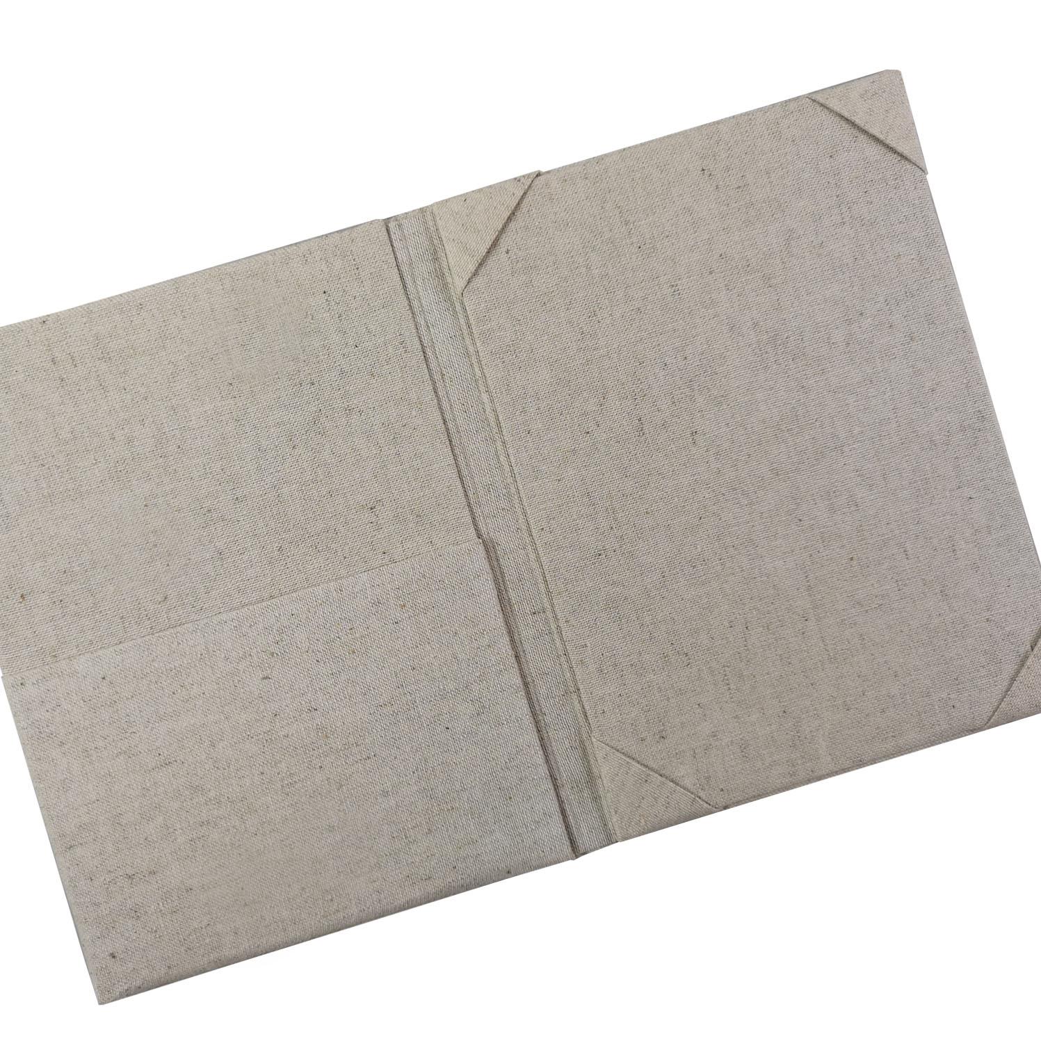 Linen wedding card holder