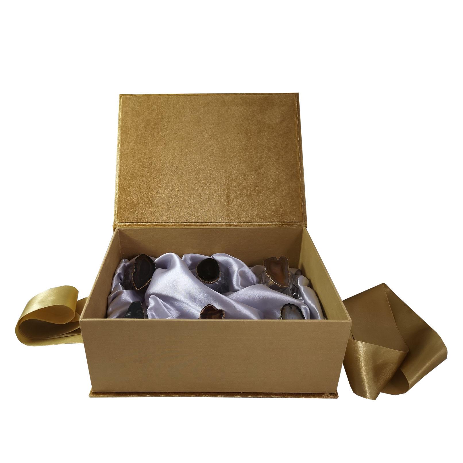 Luxury napkin ring box