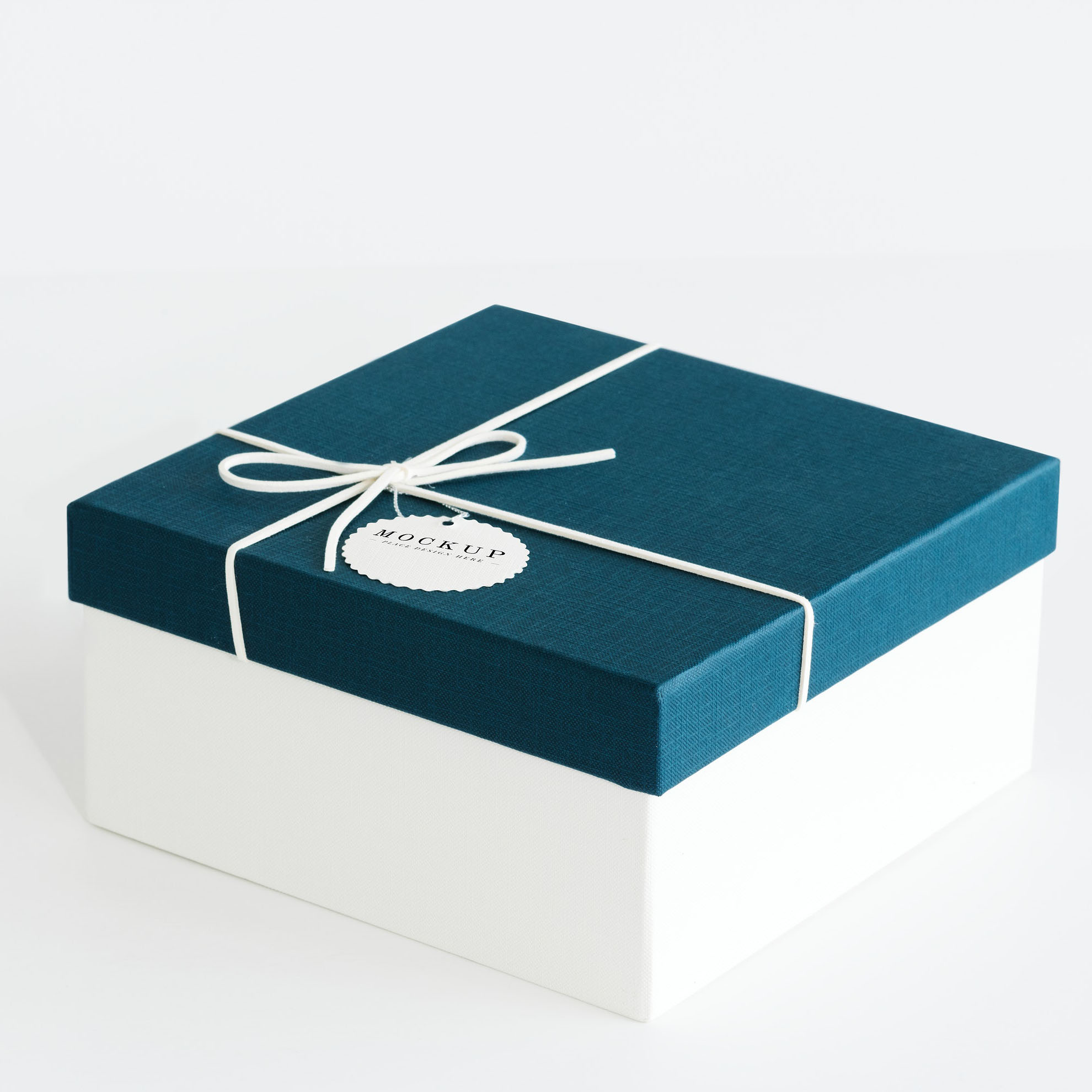 Teal color premium gift box