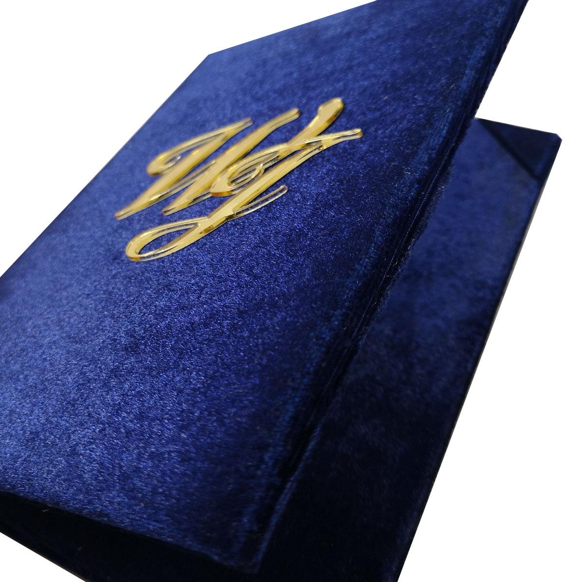 navy blue velvet invitation