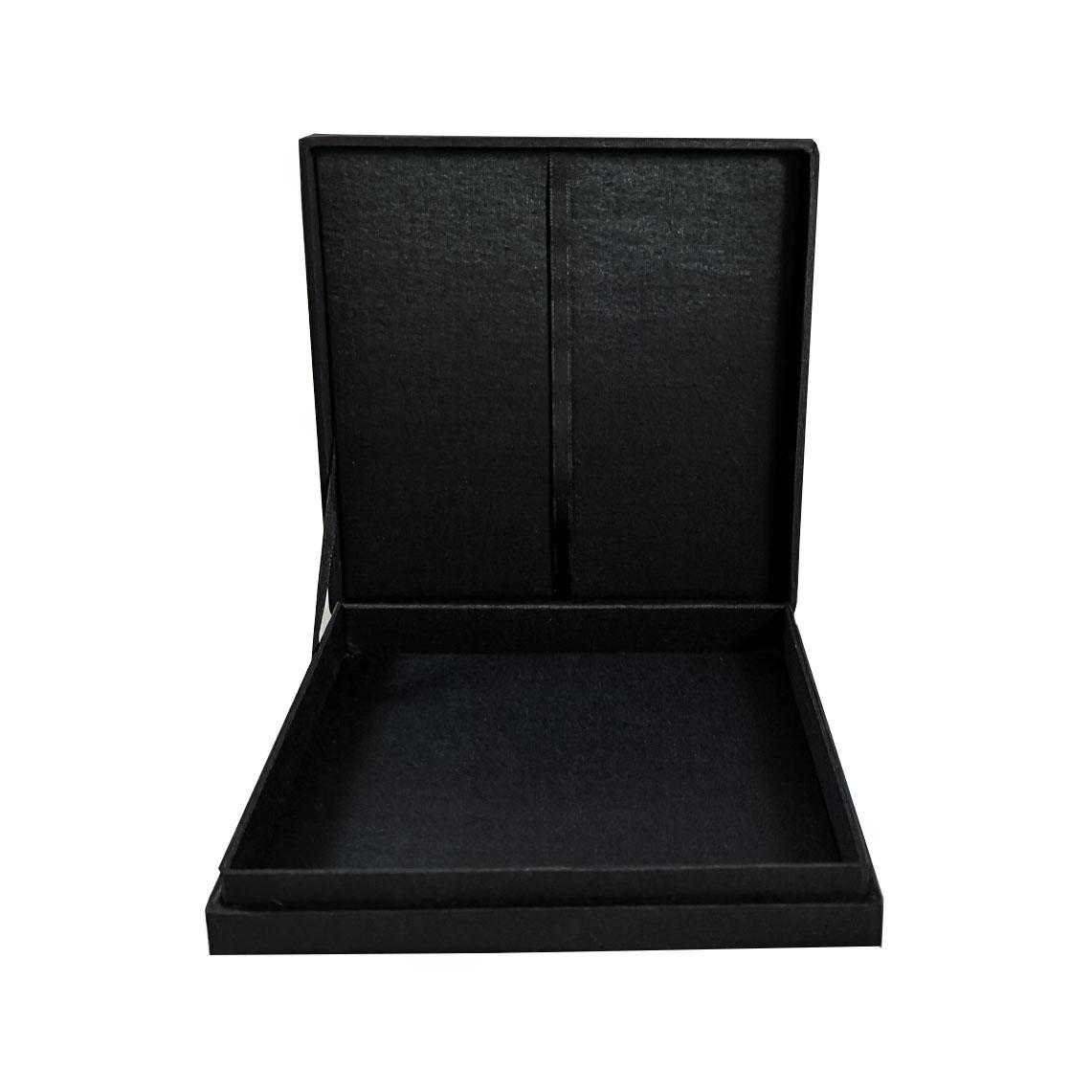 Black boxed wedding invitation