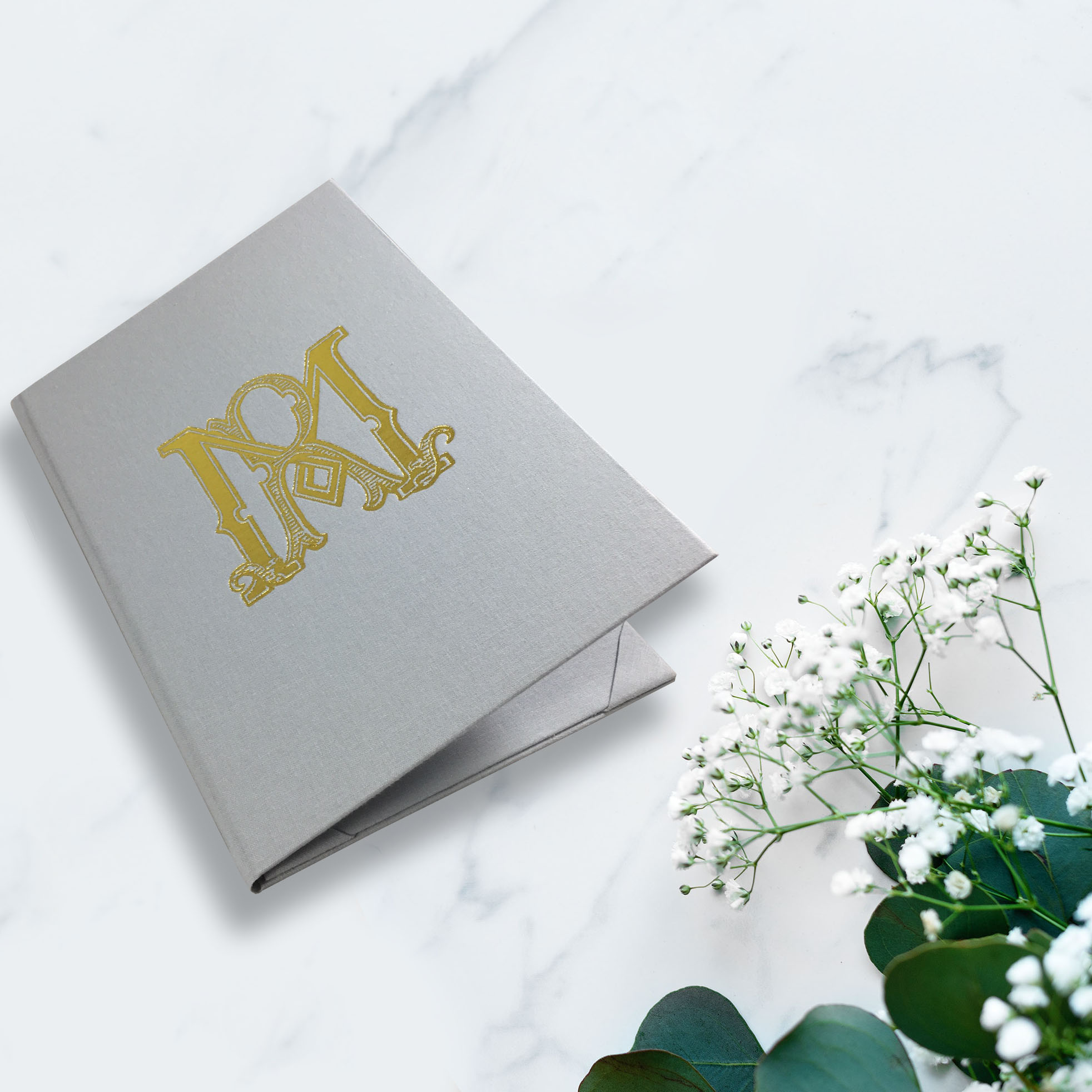 Monogram custom invitation