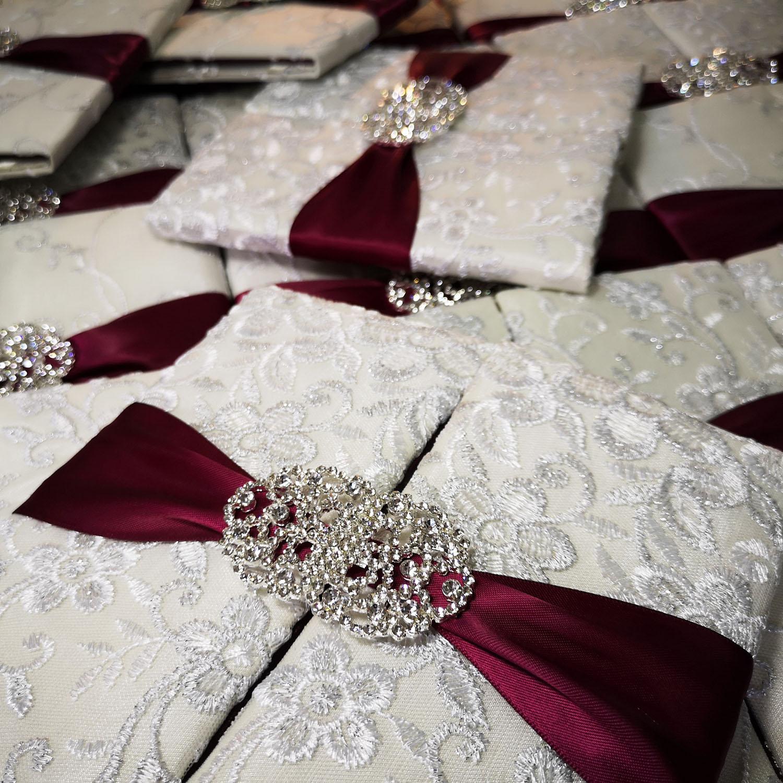 Large Acrylic Pearl /& Crystal Flower Embellishment Diamante Wedding Invitation