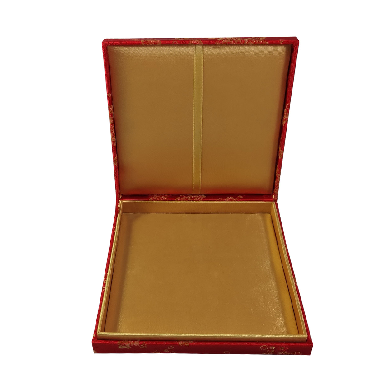 Golden silk box
