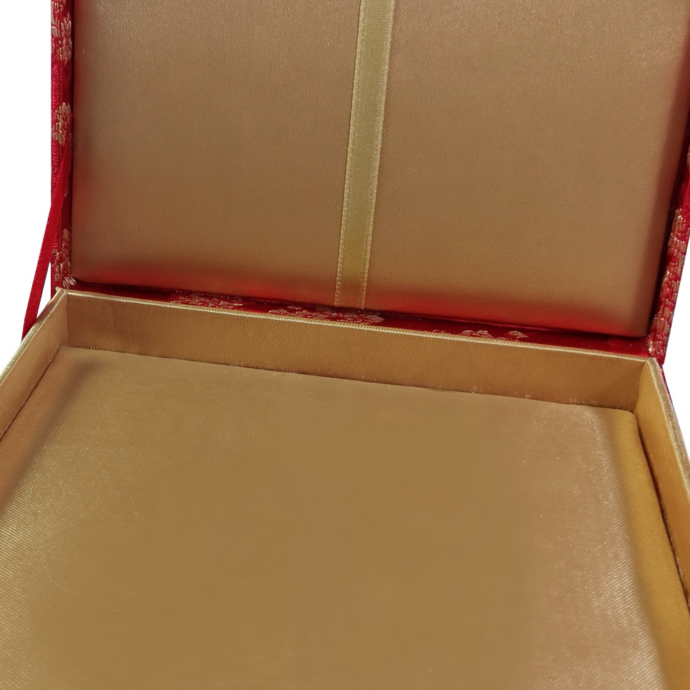 Luxury gold silk box