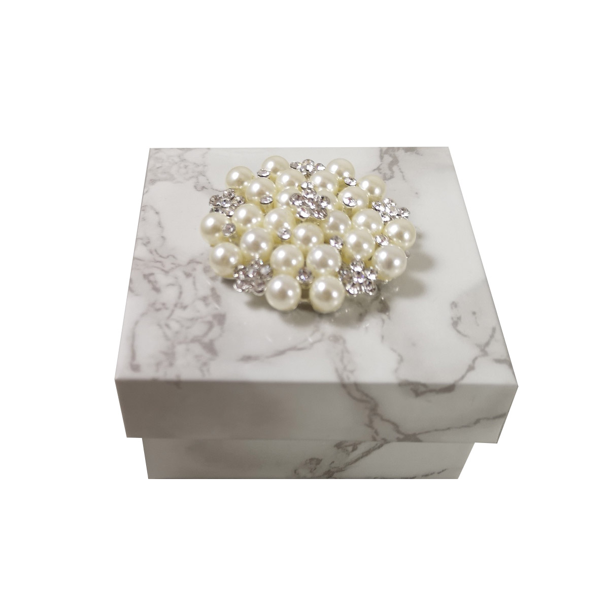 White marble keepsake box