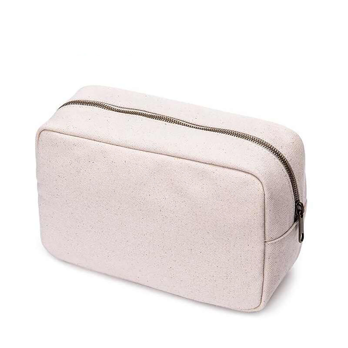Durable 12 Oz Cotton Canvas Cosmetic Bag