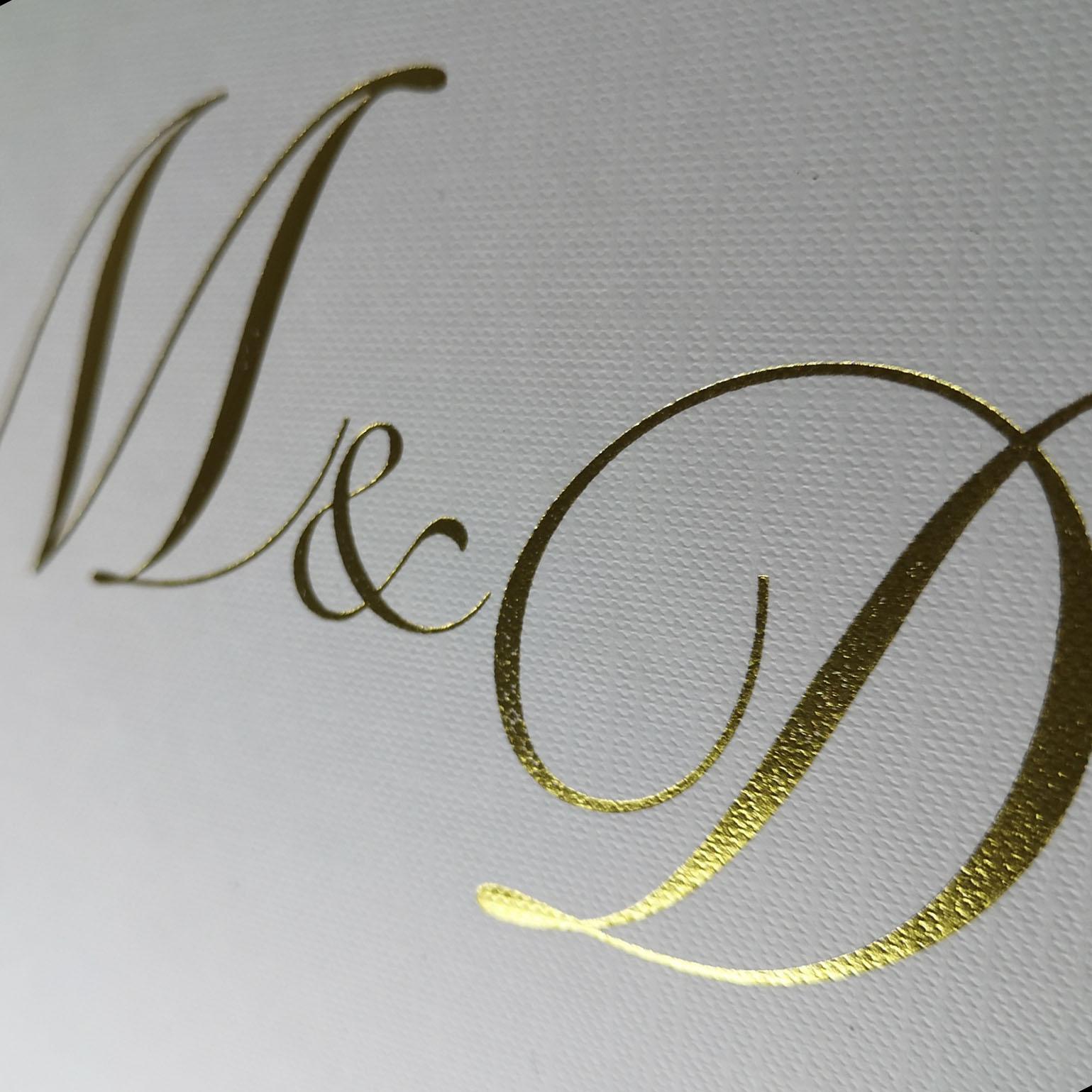 foil stamped monogram