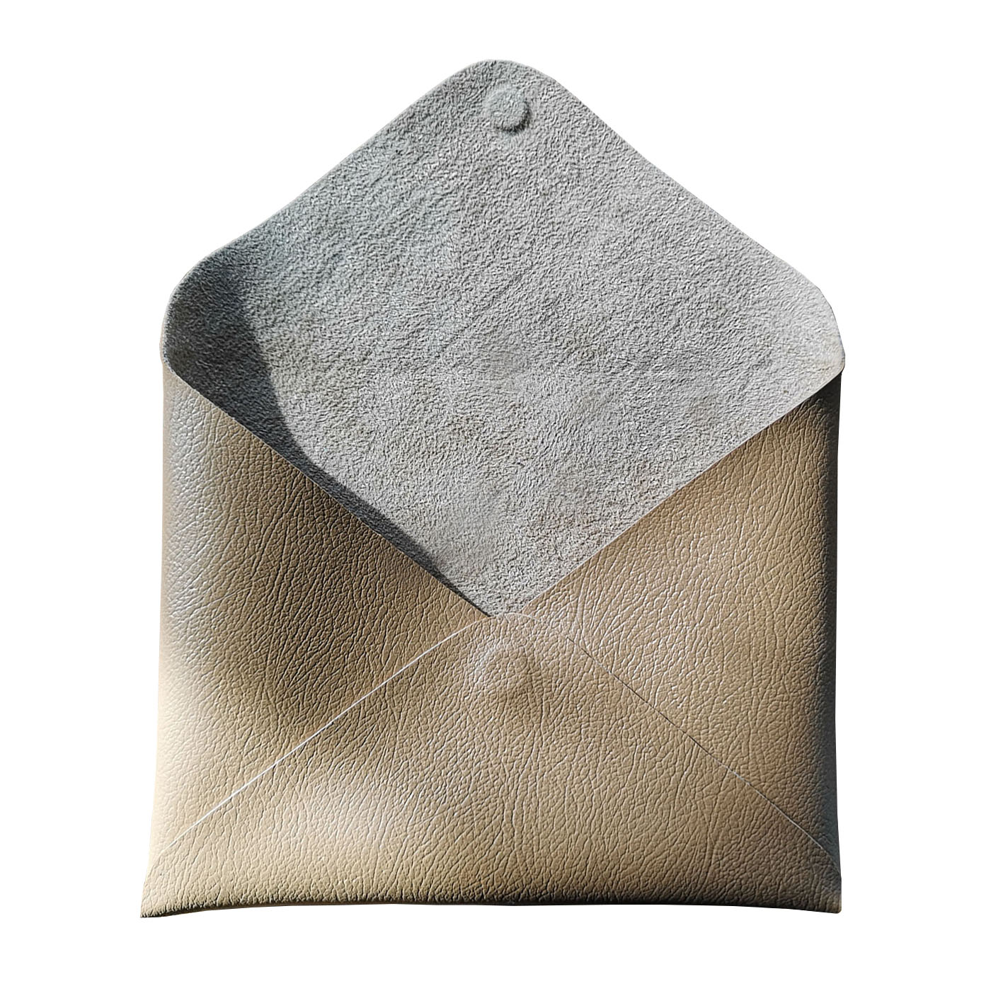 brown leather envelope