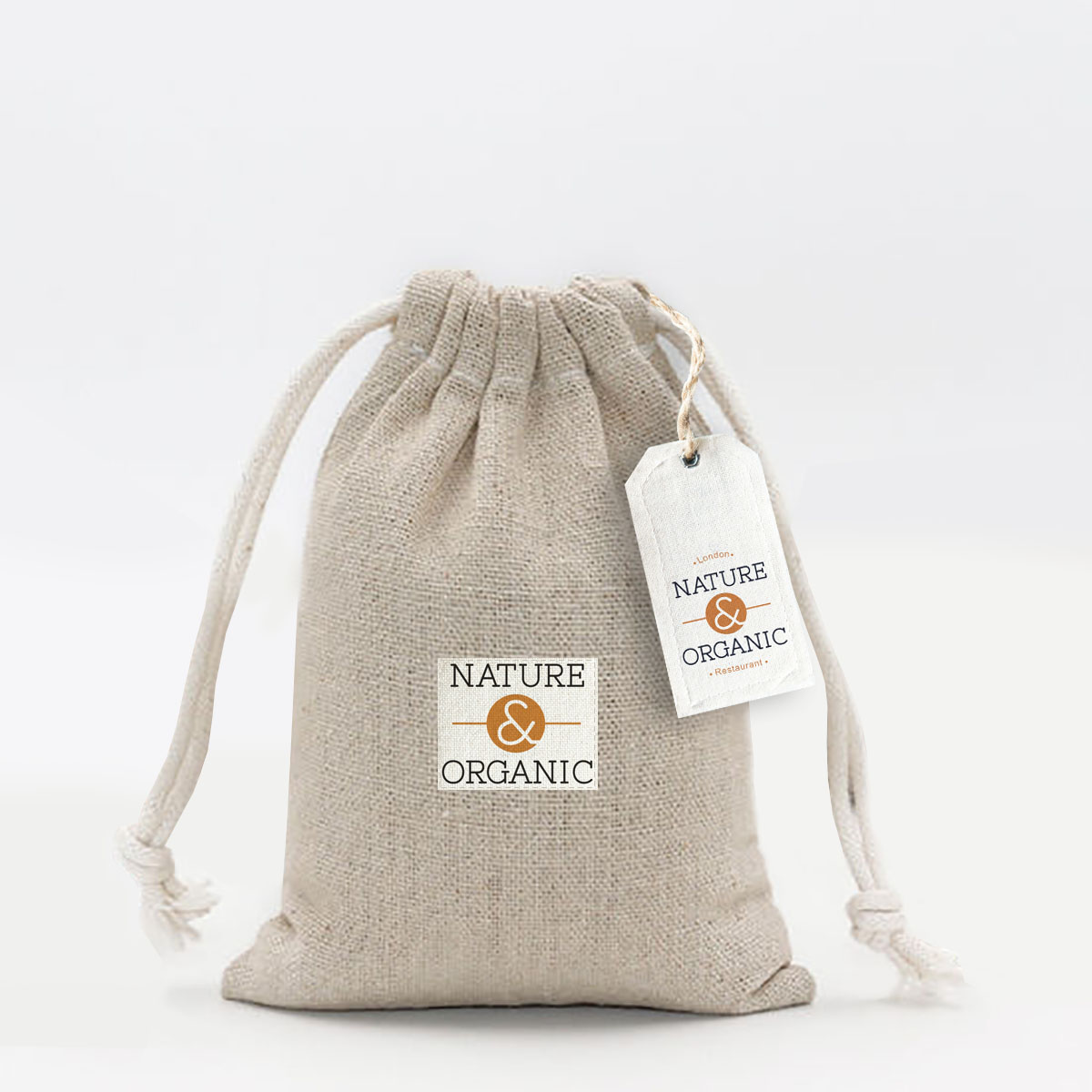friendly hemp drawstring bag