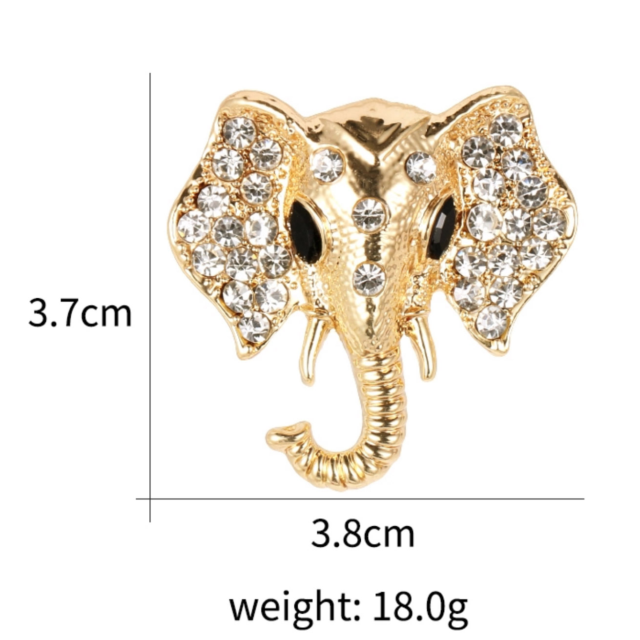 Thai elephant brooch