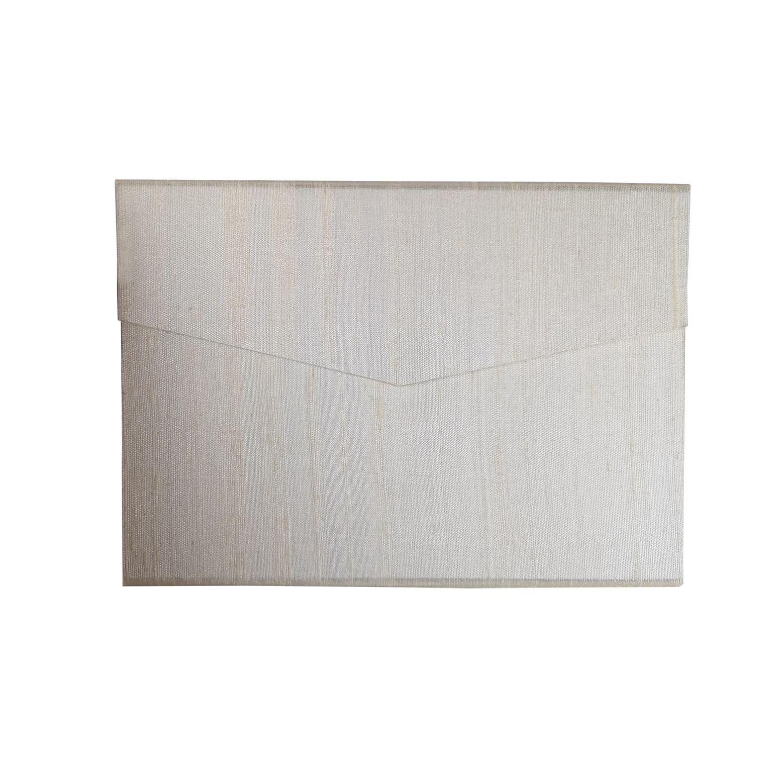Ivory dupioni silk envelope