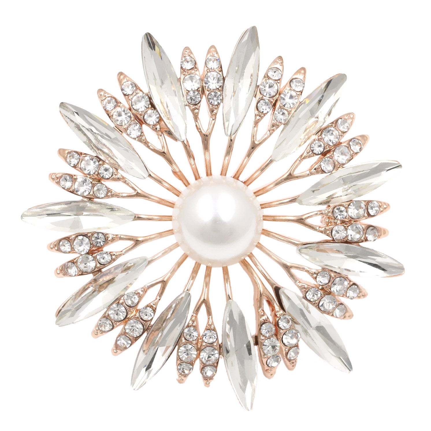 Pearl wedding card brooch