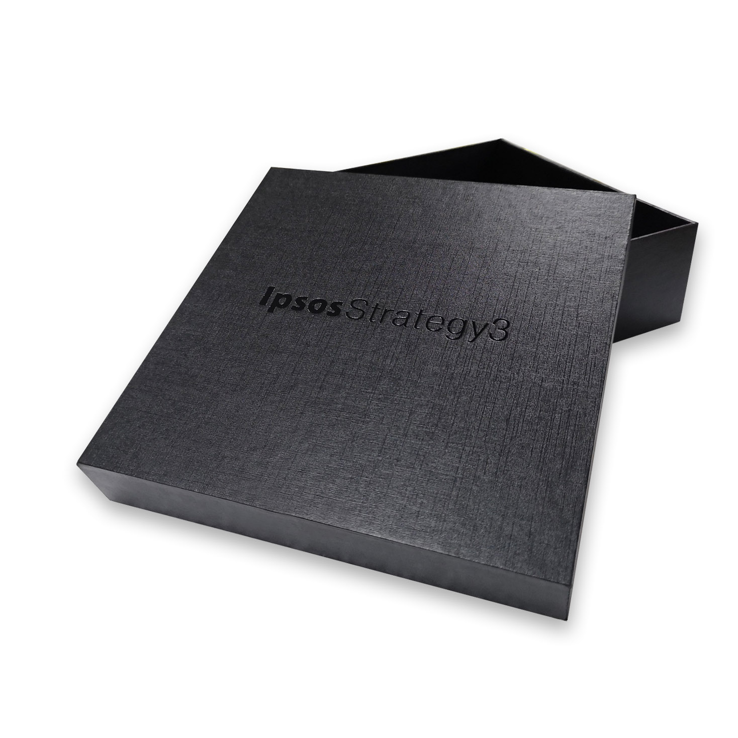 Gift box with black cardstock paper and foil stamp