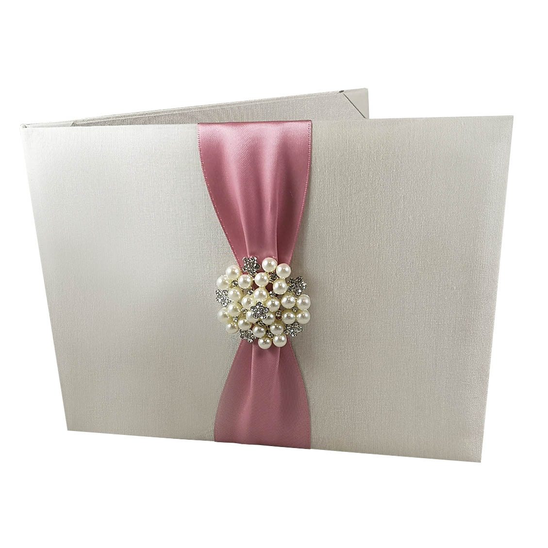 ivory wedding invitation folder