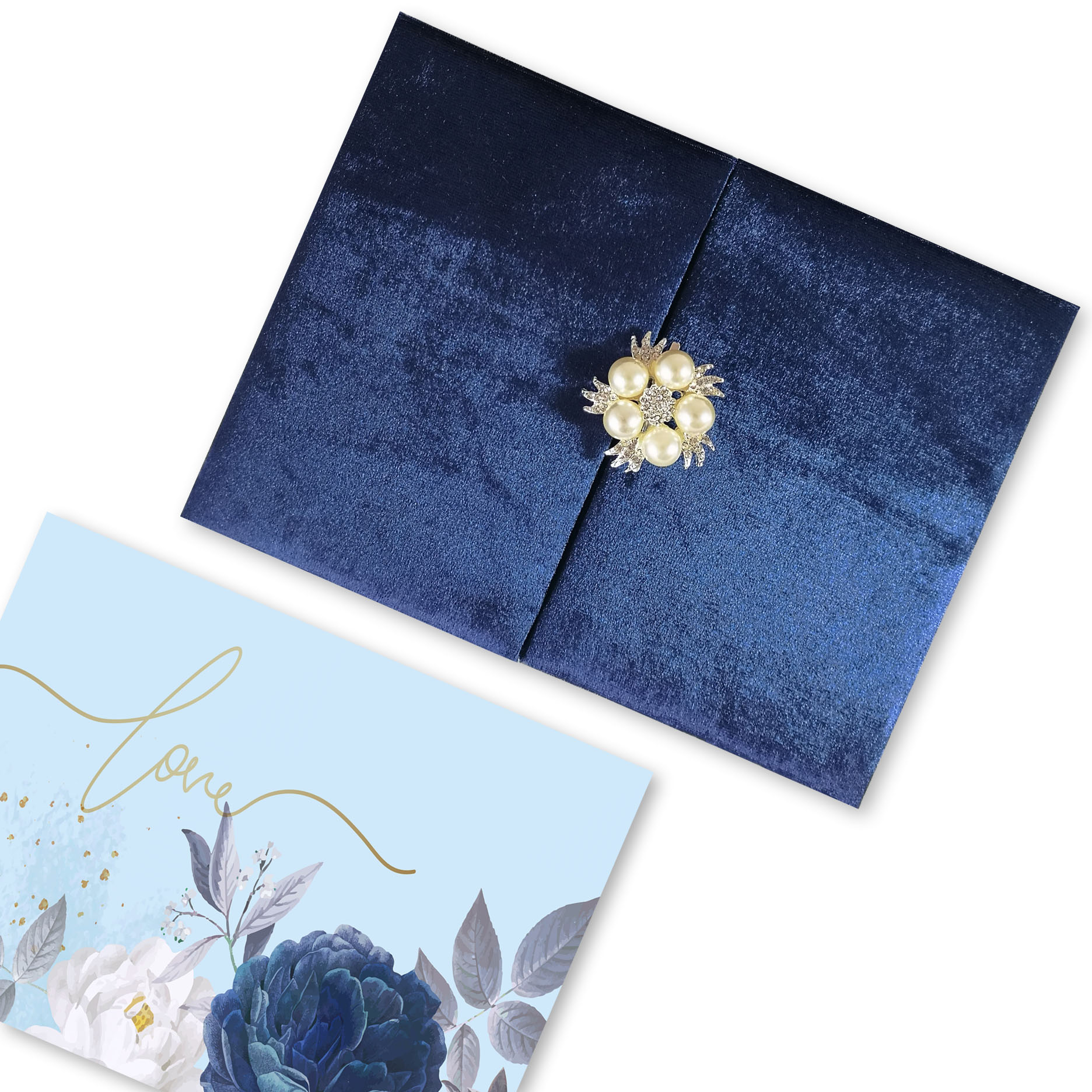 navy blue wedding folder