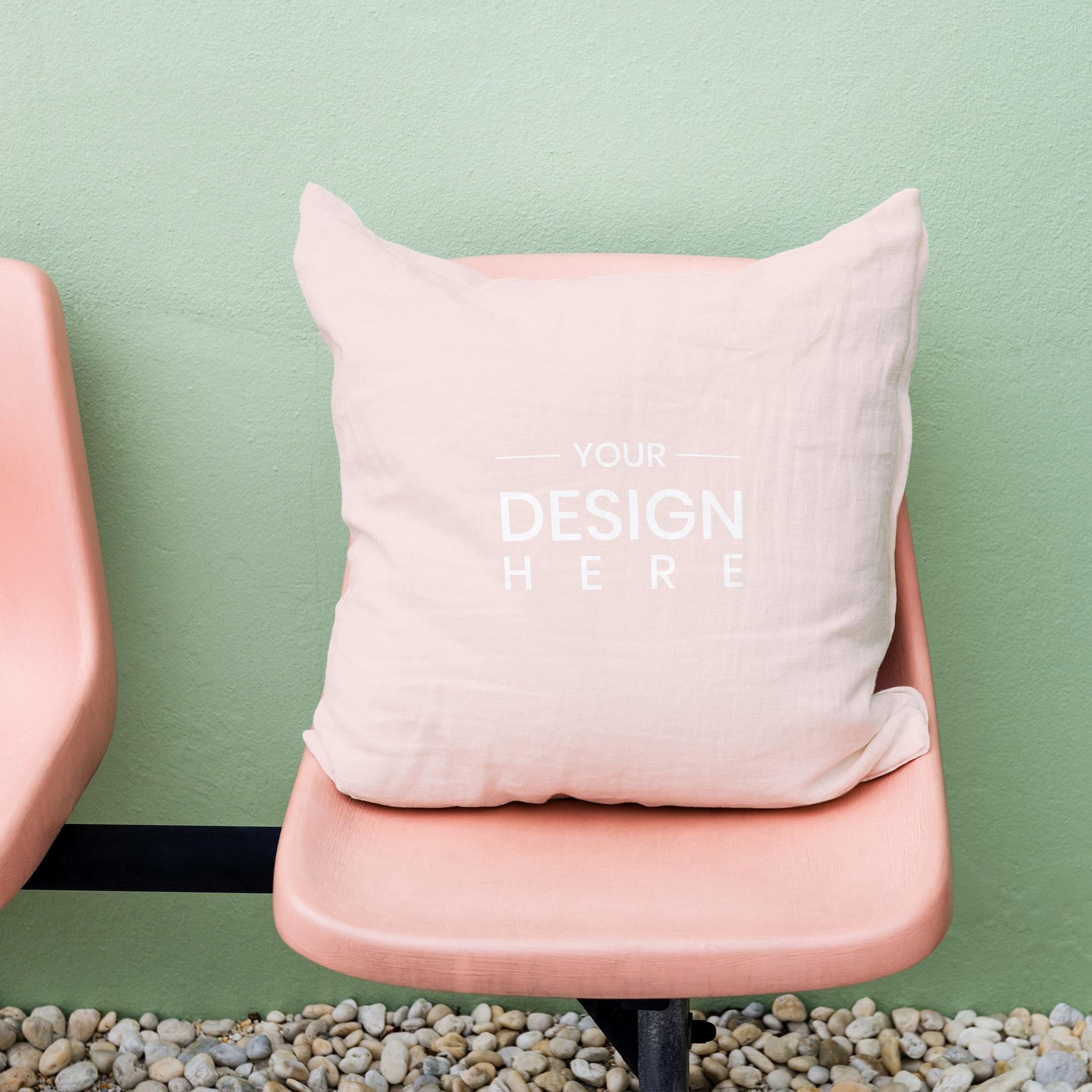 Custom printed cotton twill cushion