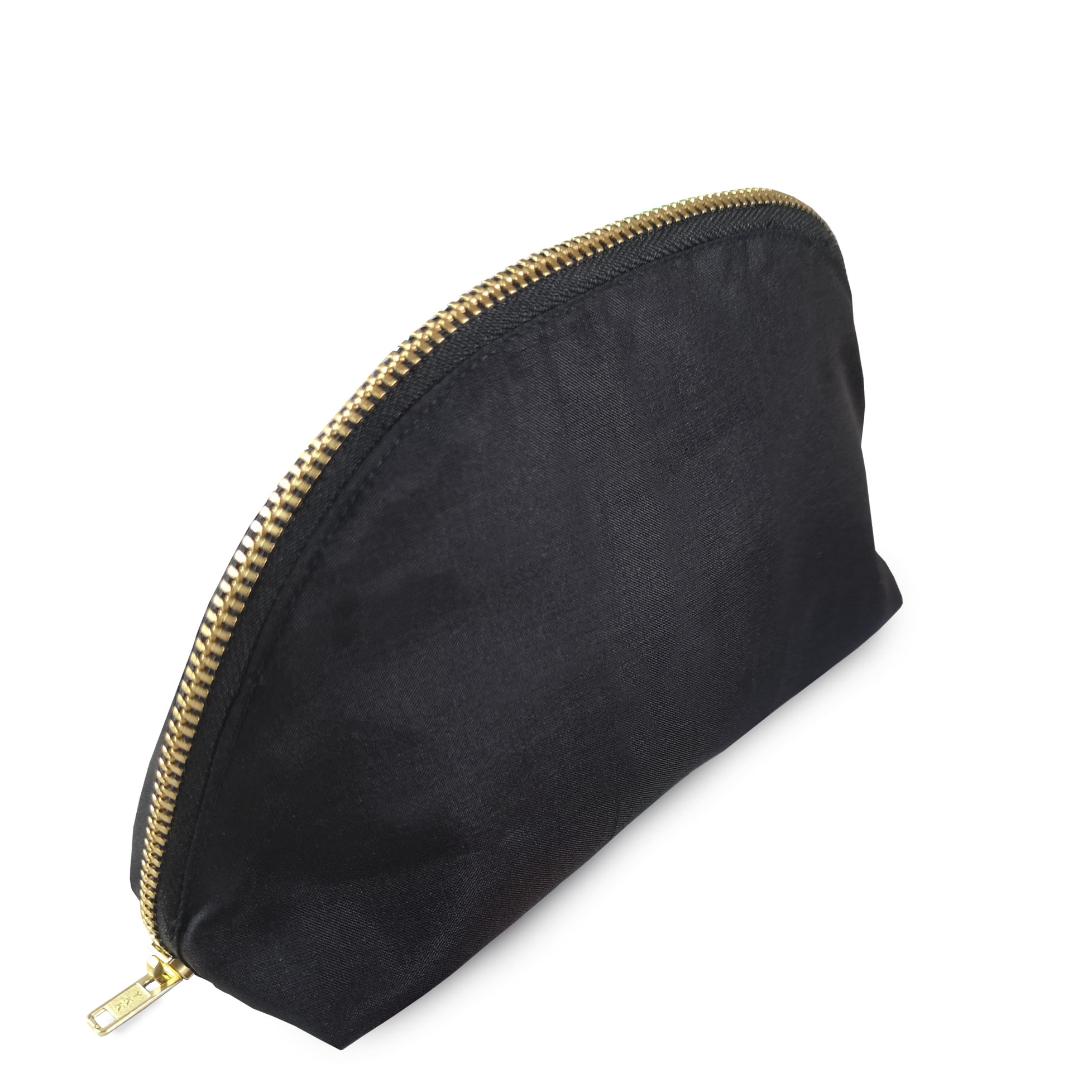 Black Thai silk cosmetic bag